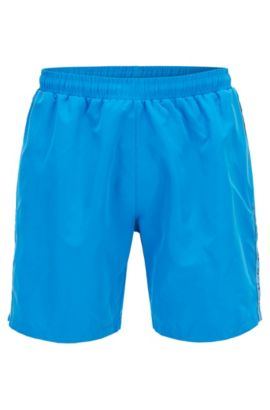 Swim shorts in quick-drying technical fabric, Blue