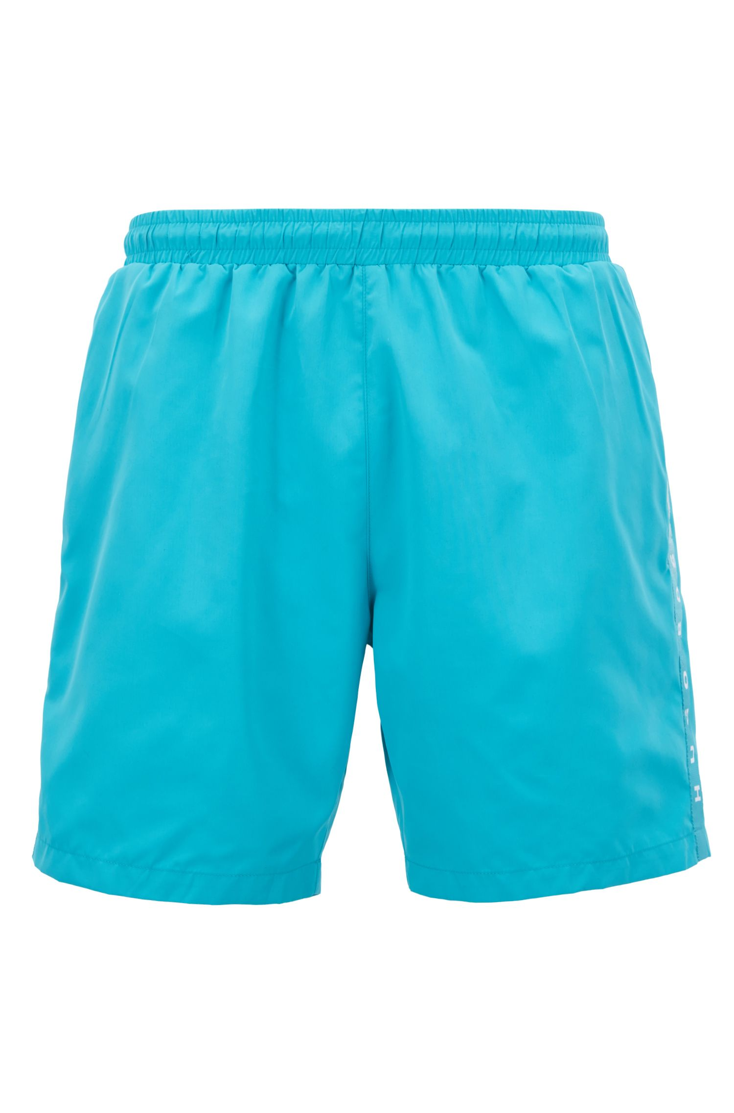 Swim shorts in quick-drying technical fabric, Turquoise