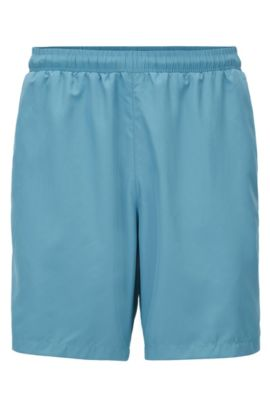 Swim shorts in quick-drying technical fabric, Light Blue