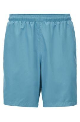Short de bain au séchage rapide, en tissu technique, Bleu vif