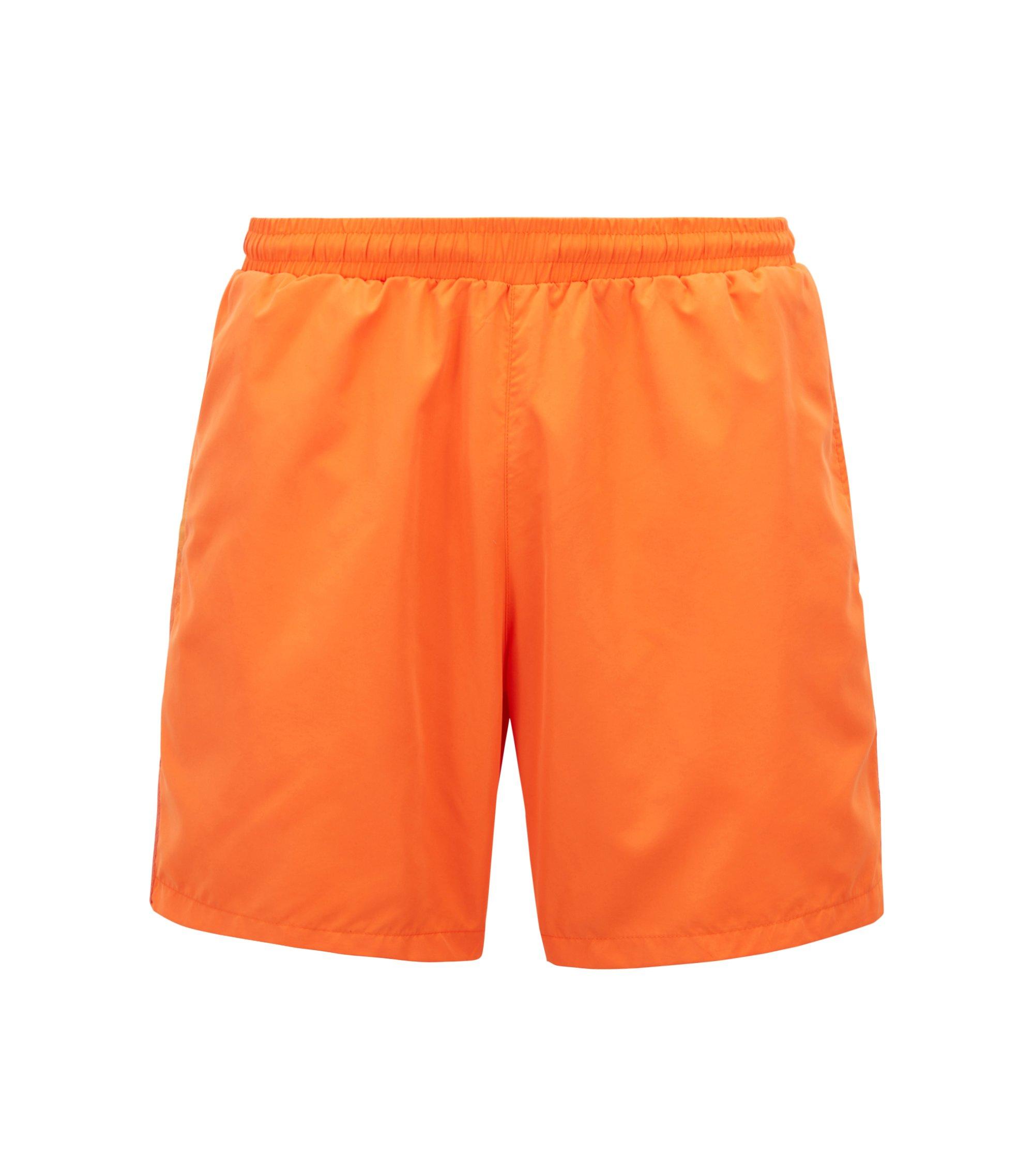 Short de bain au séchage rapide, en tissu technique, Orange
