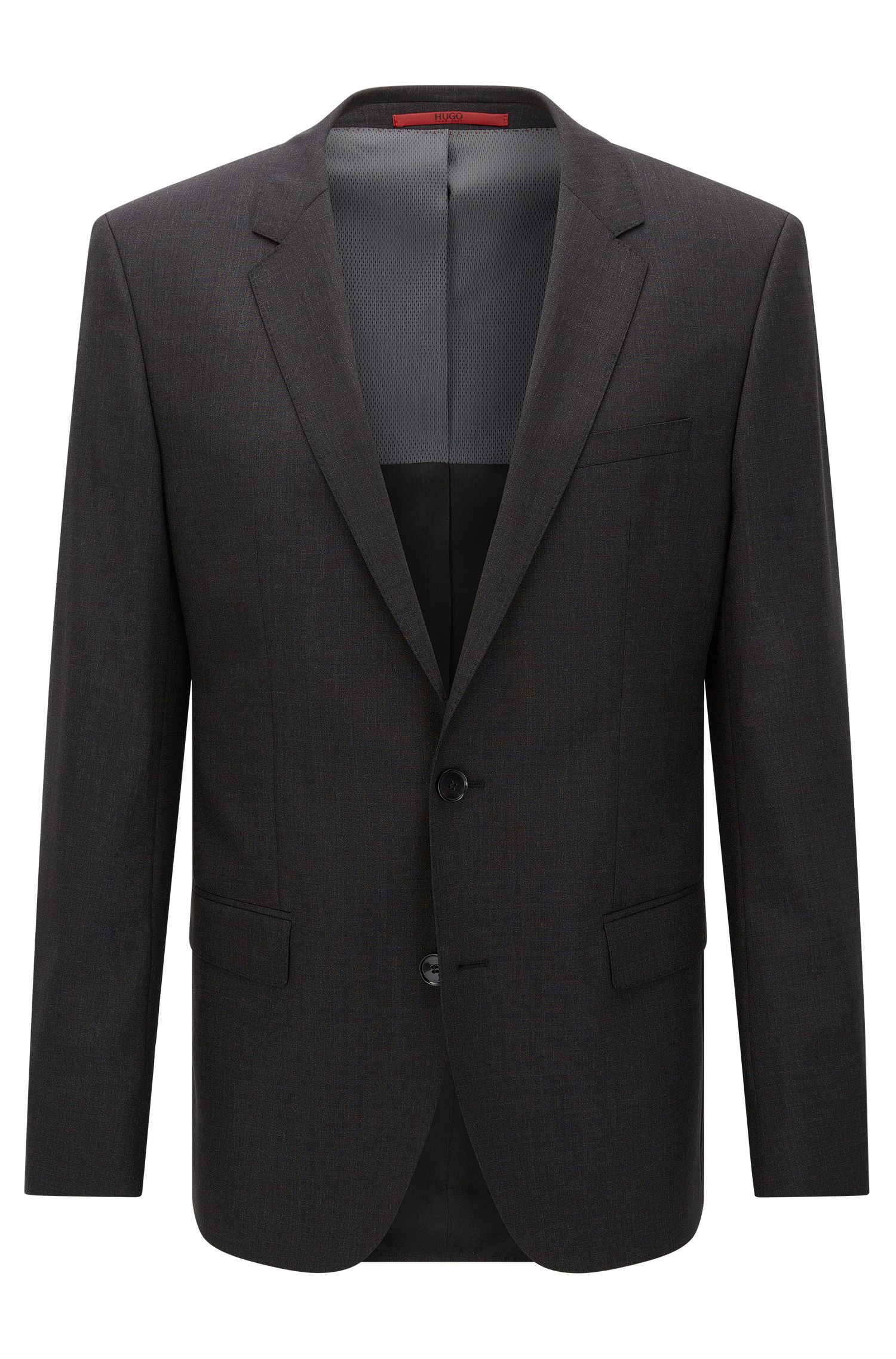 Slim-fit suit jacket in stretch virgin wool