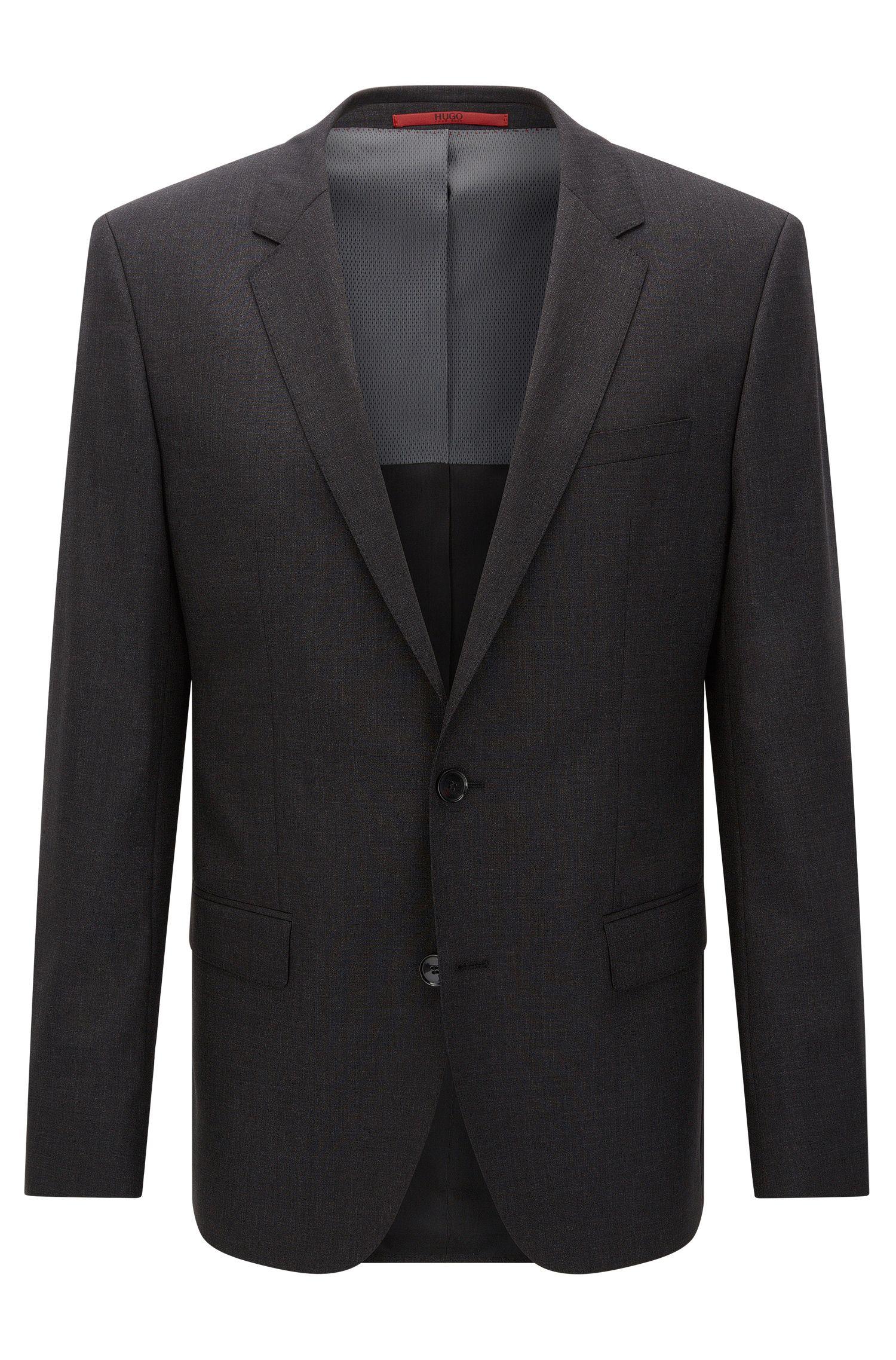 Slim-fit suit jacket in stretch virgin wool