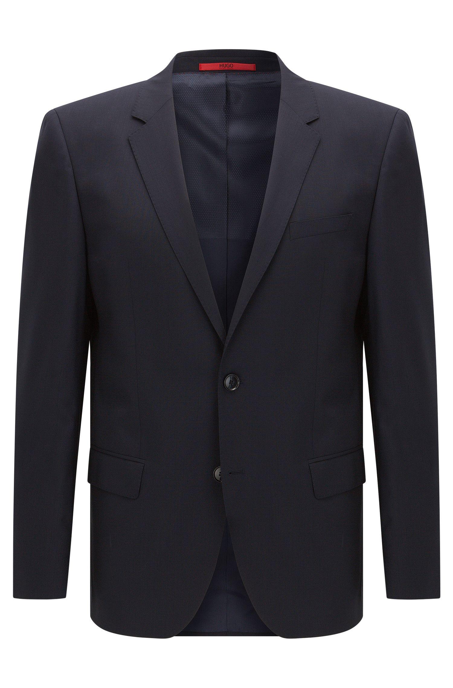 Giacca slim fit in lana vergine elasticizzata