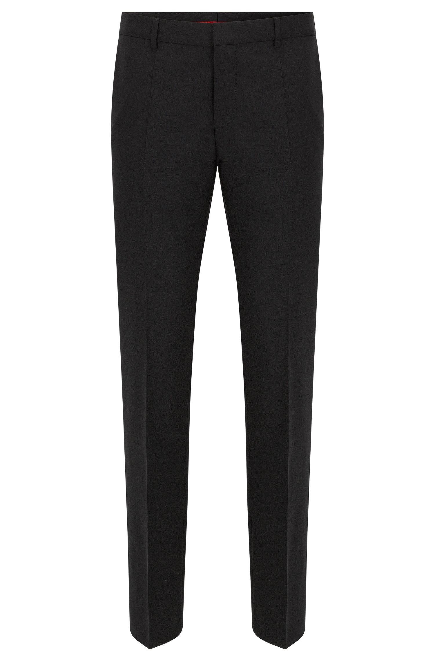 Pantalon à jambes Slim, en laine vierge stretch