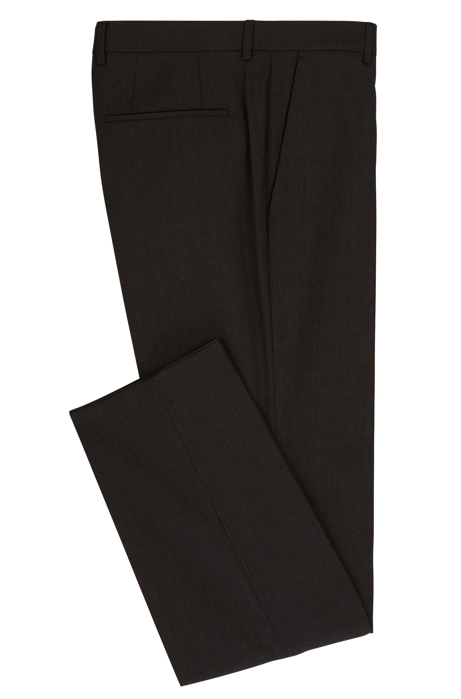 Slim-leg trousers in stretch virgin wool