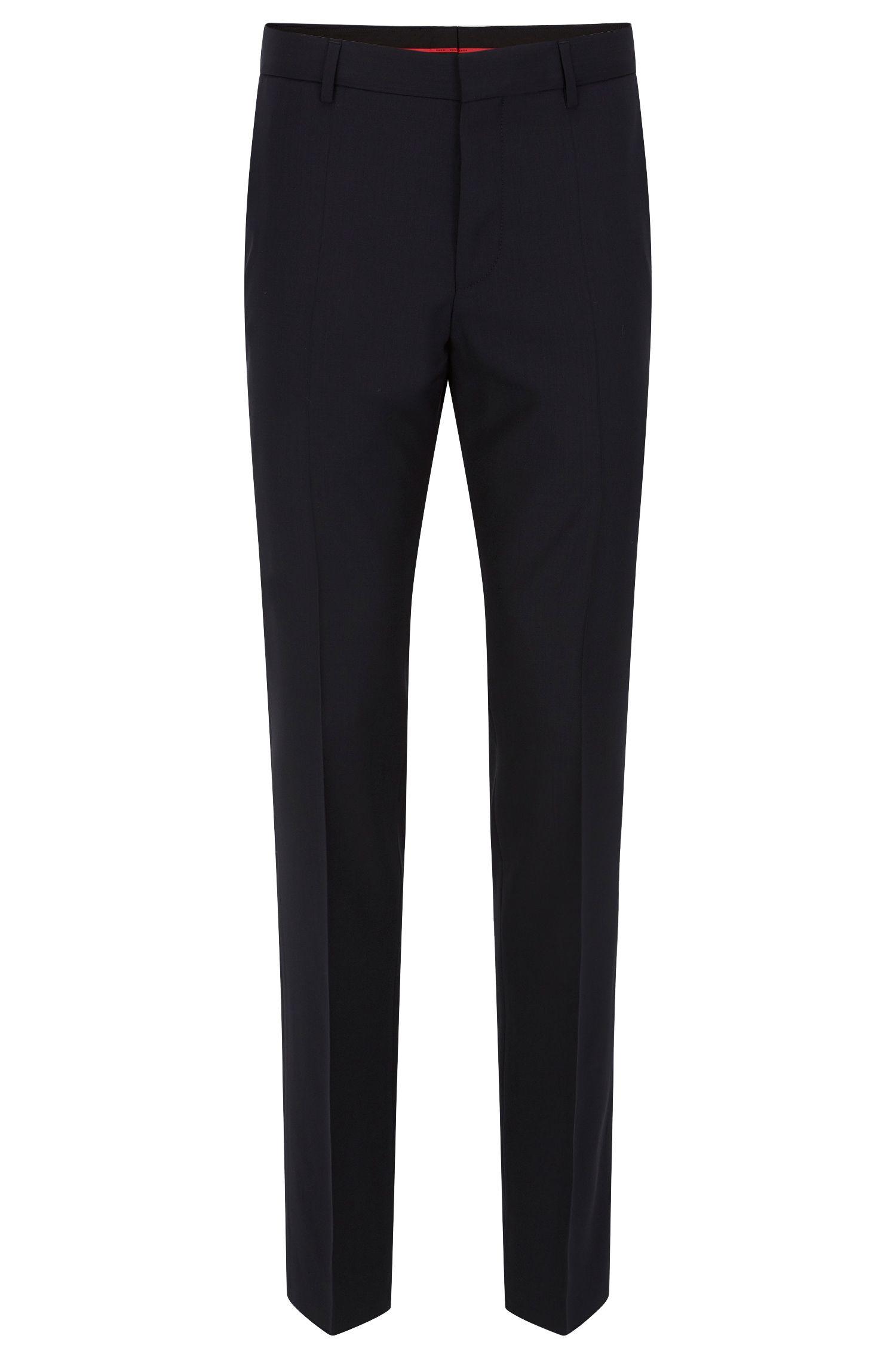 Pantaloni a gamba aderente in lana vergine elasticizzata