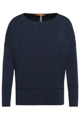 Sweatshirt aus elastischem Viskose-Baumwoll-Mix: ´Tersweat`, Dunkelblau