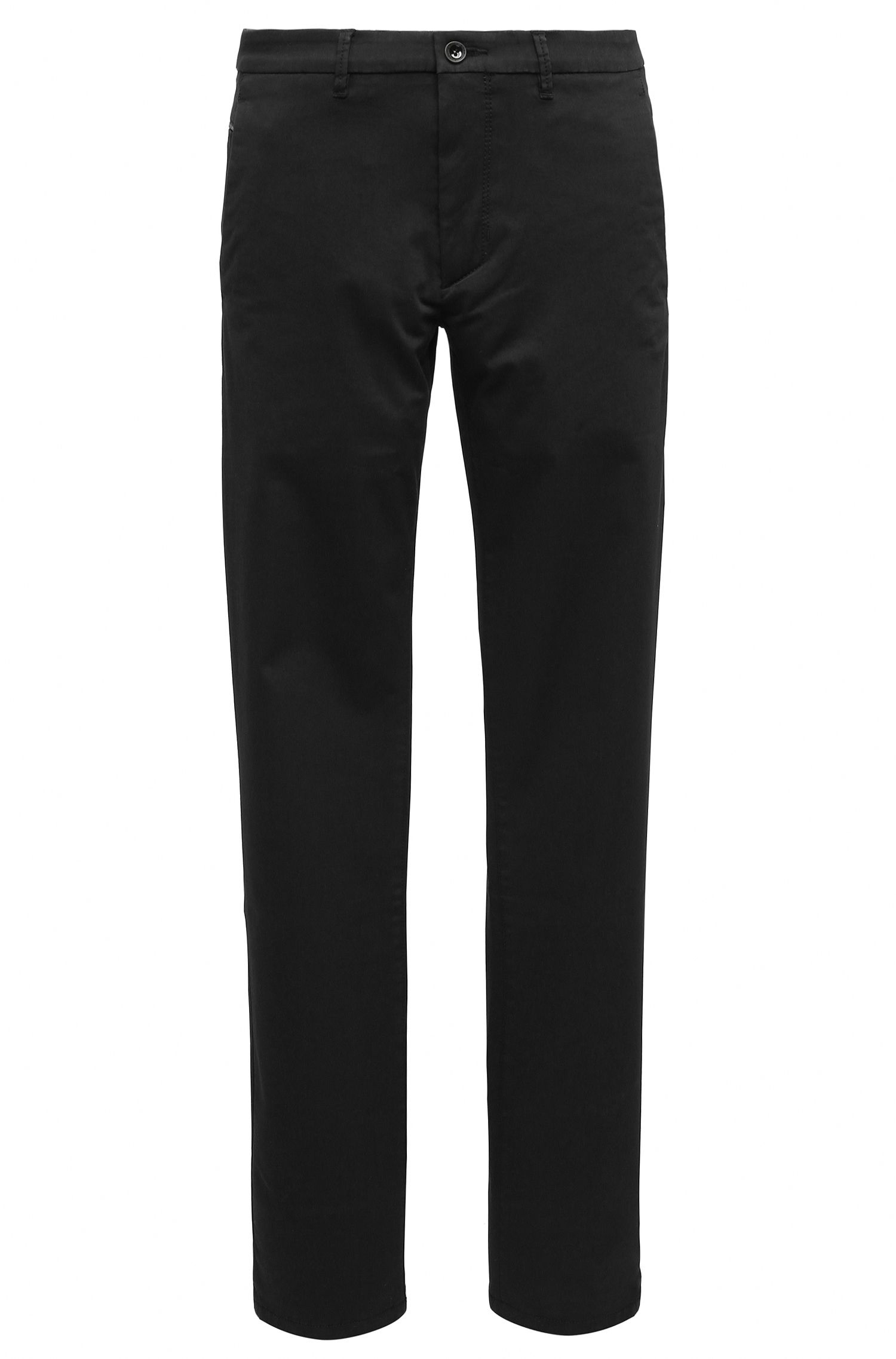 Slim-fit chino van een katoenmix met stretch en satijn-finish