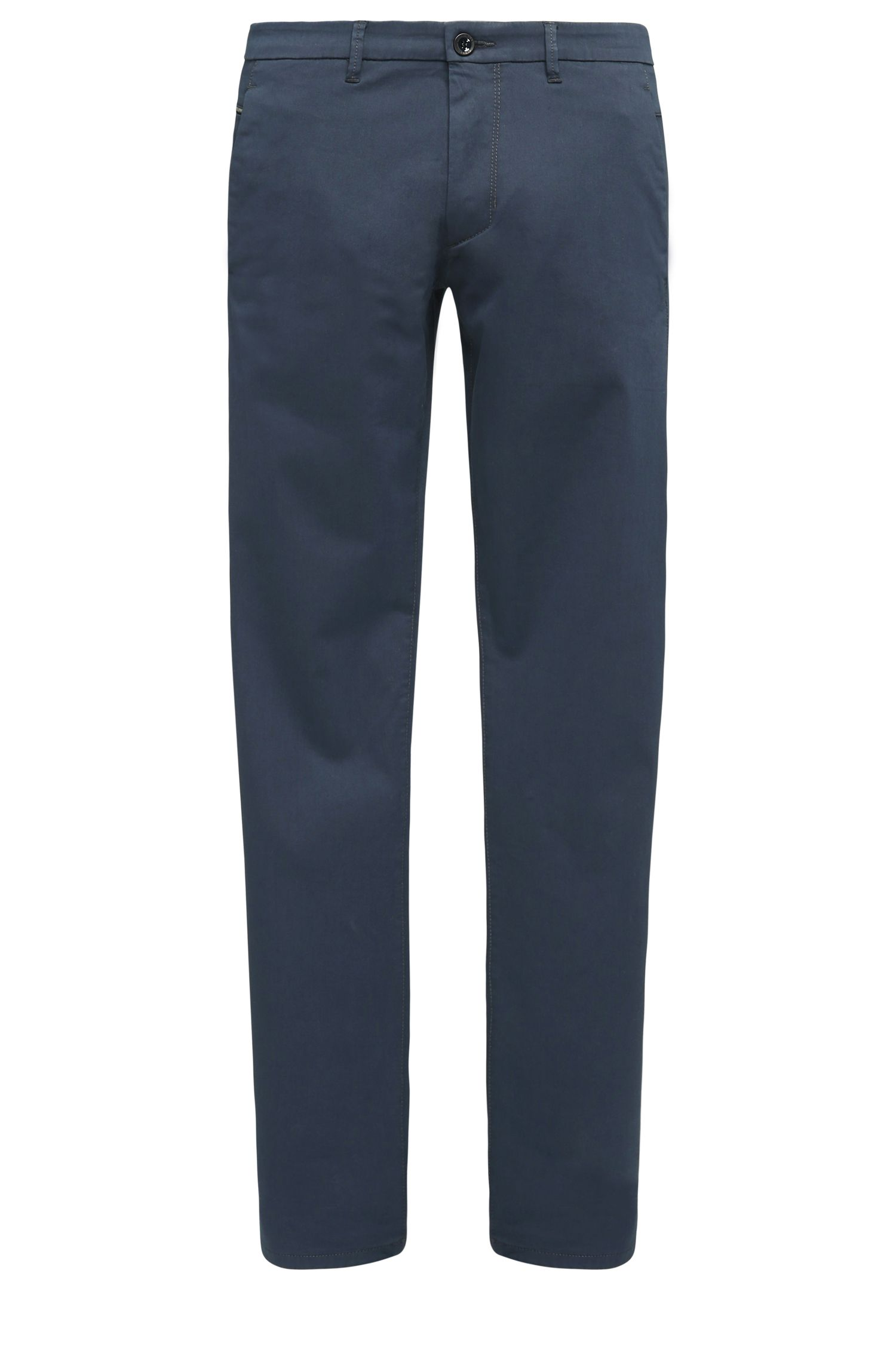 Chino Slim Fit en coton mélangé stretch à la finition satinée