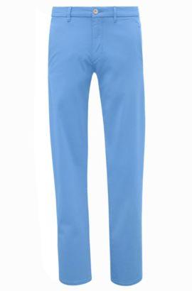 Slim-Fit Chino aus Stretch-Baumwolle mit Satin-Finish von BOSS Green, Hellblau