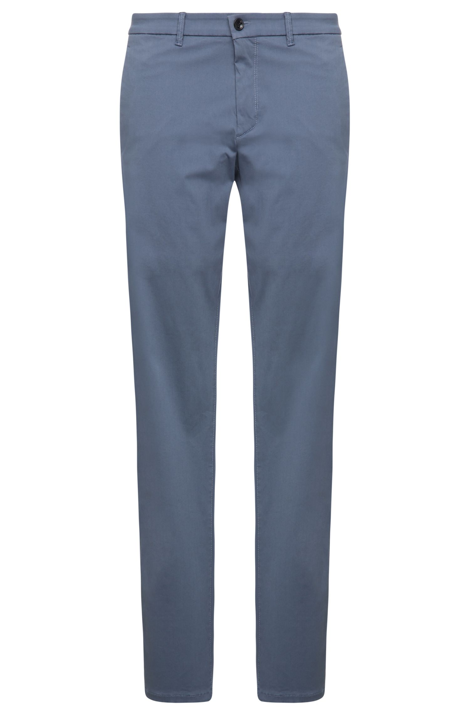 Slim-Fit Chino aus Stretch-Baumwolle mit Satin-Finish von BOSS Green