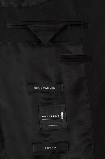 修身版新羊毛珠边缝线外套:' Hayes_cyl',  001_黑色
