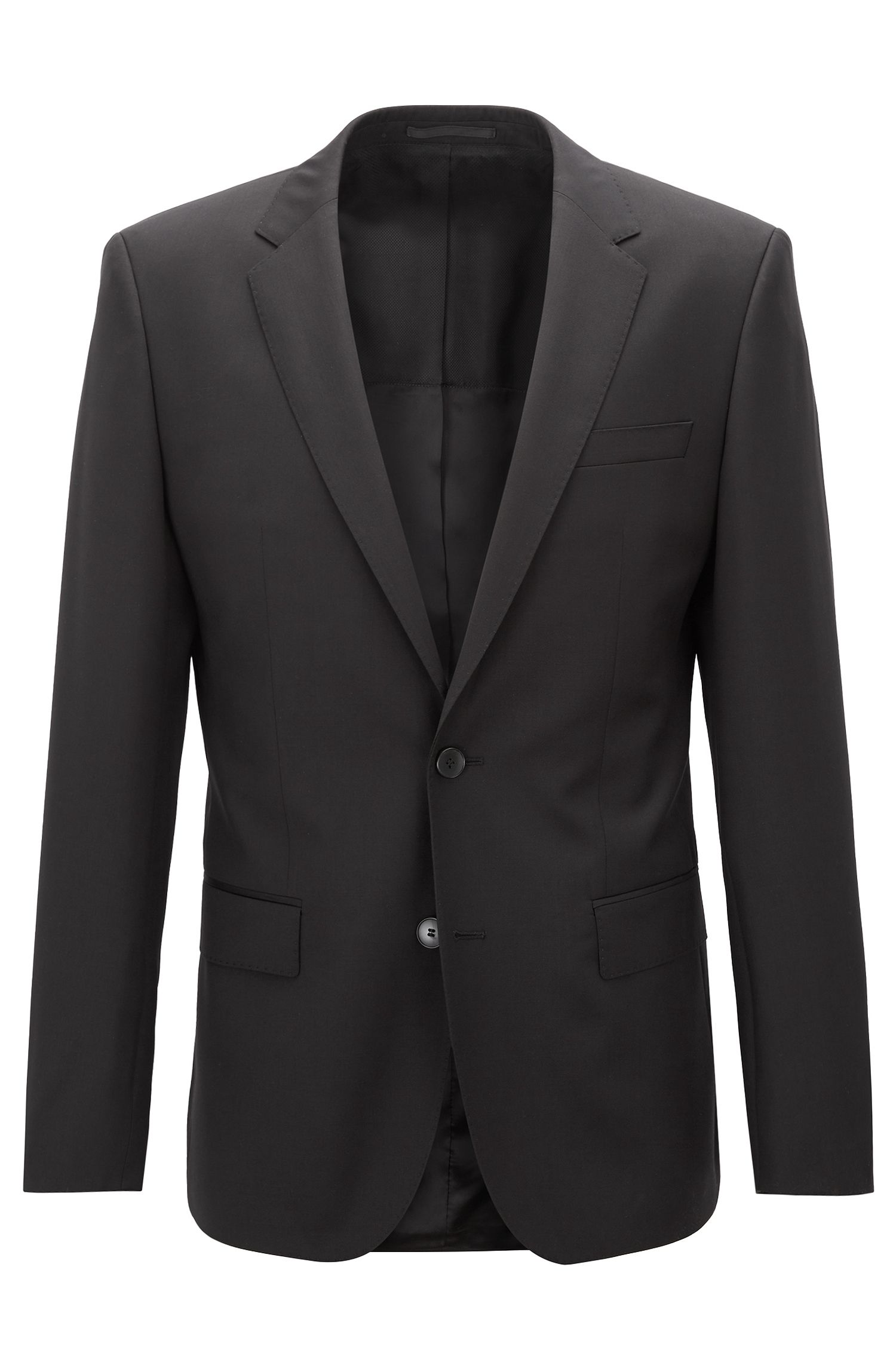 Slim-fit jacket in virgin wool