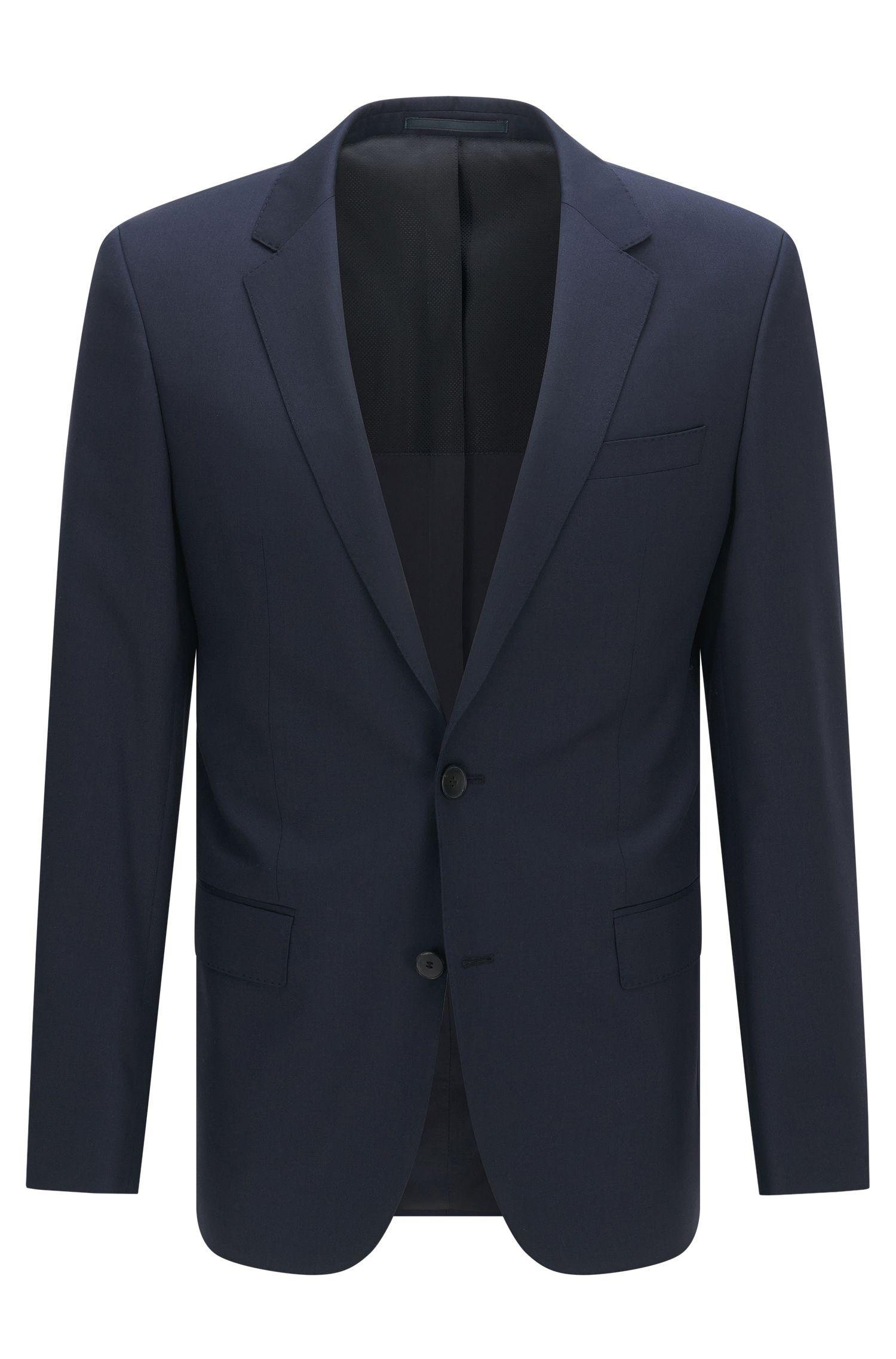Slim-fit jacket in virgin wool