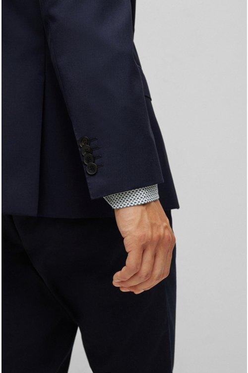 Hugo Boss - Slim-fit jacket in virgin wool - 4