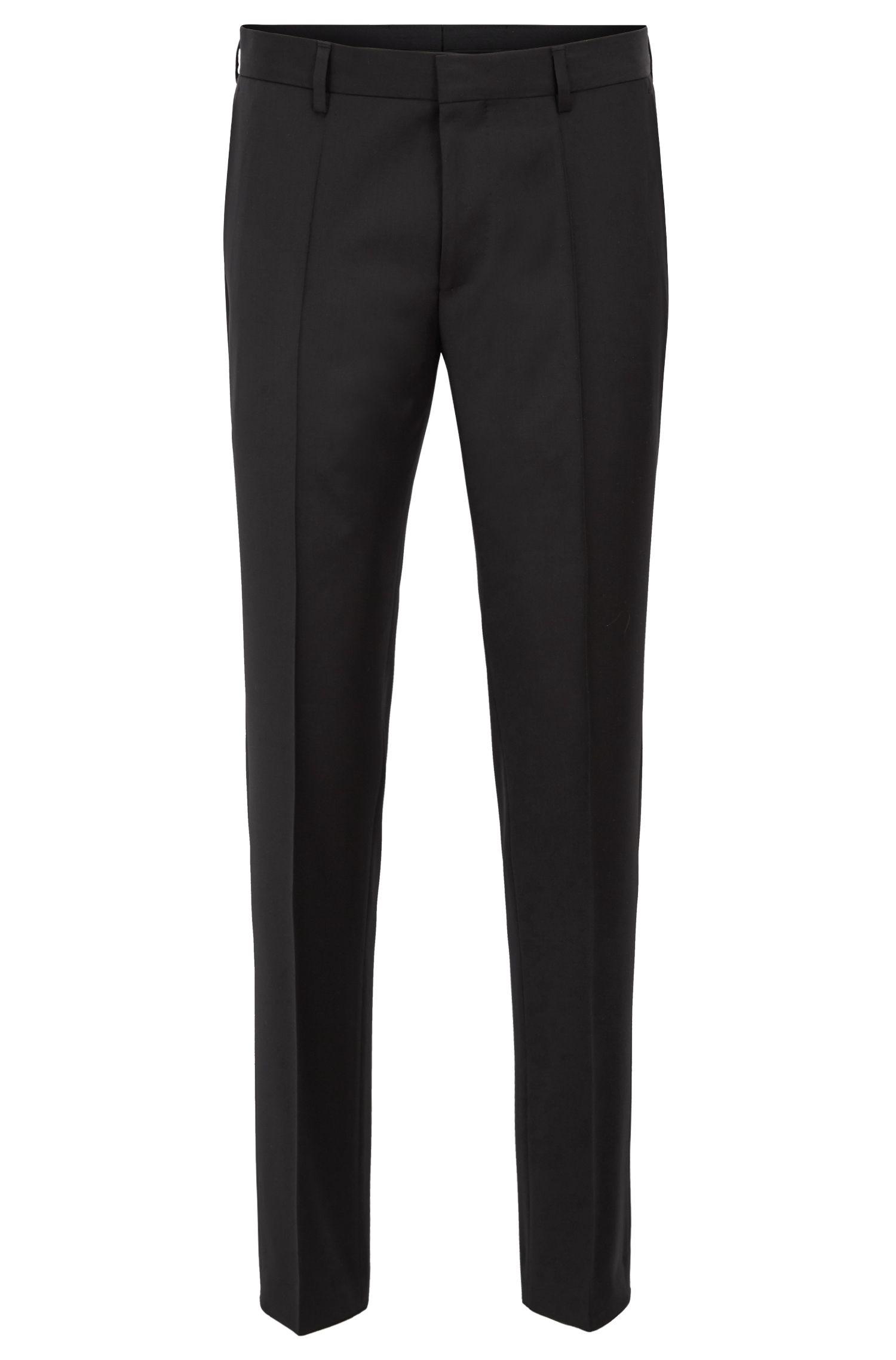 Slim-fit trousers in pure virgin wool
