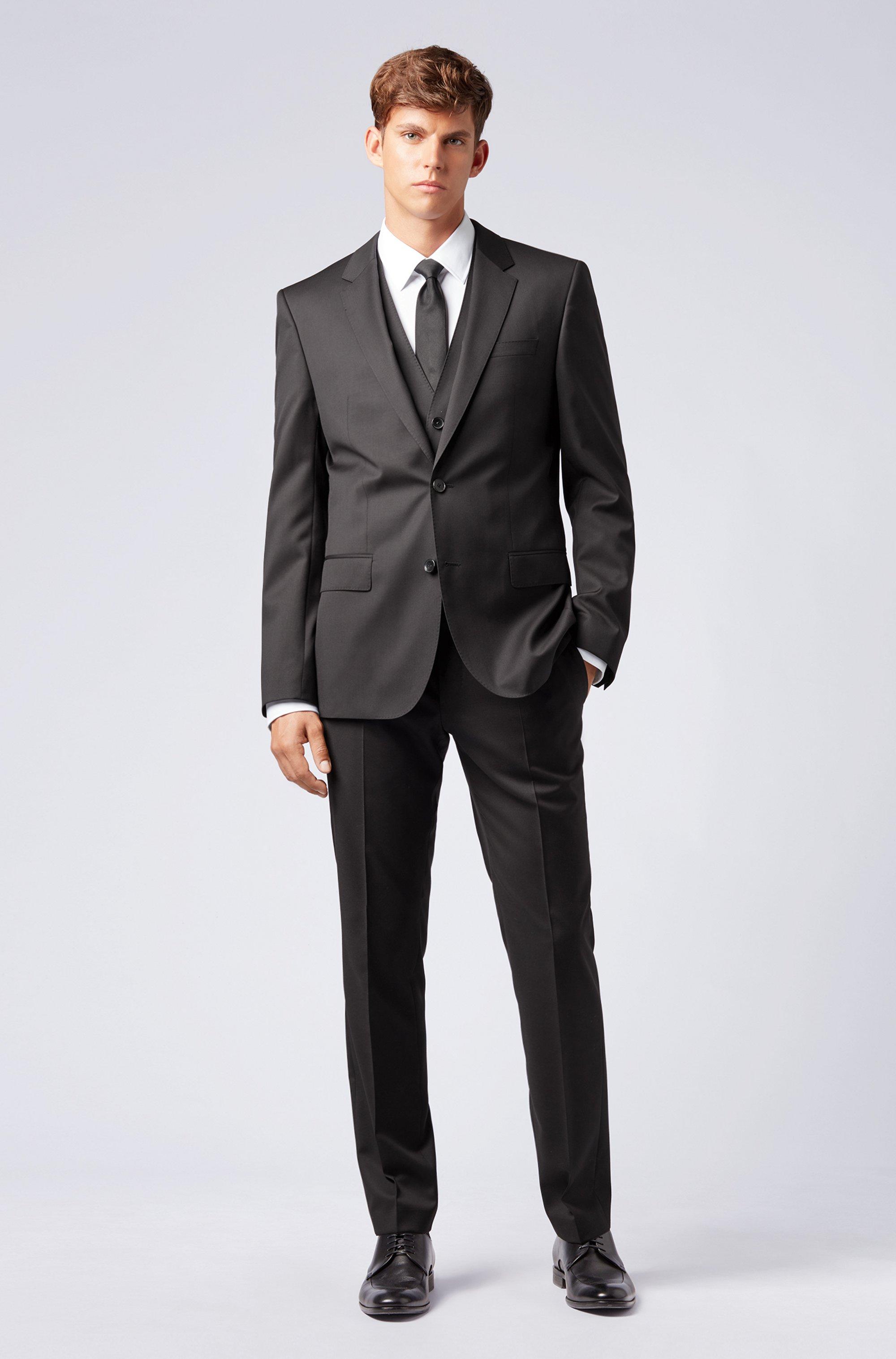 Slim-fit trousers in virgin-wool serge