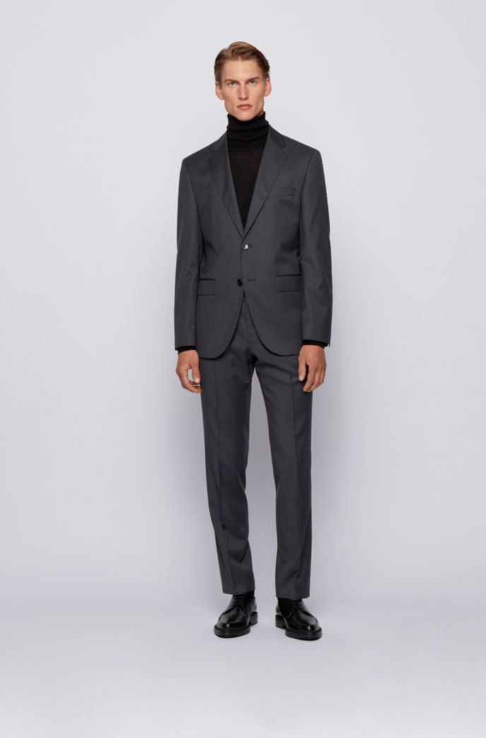 Slim-fit trousers in virgin-wool serge
