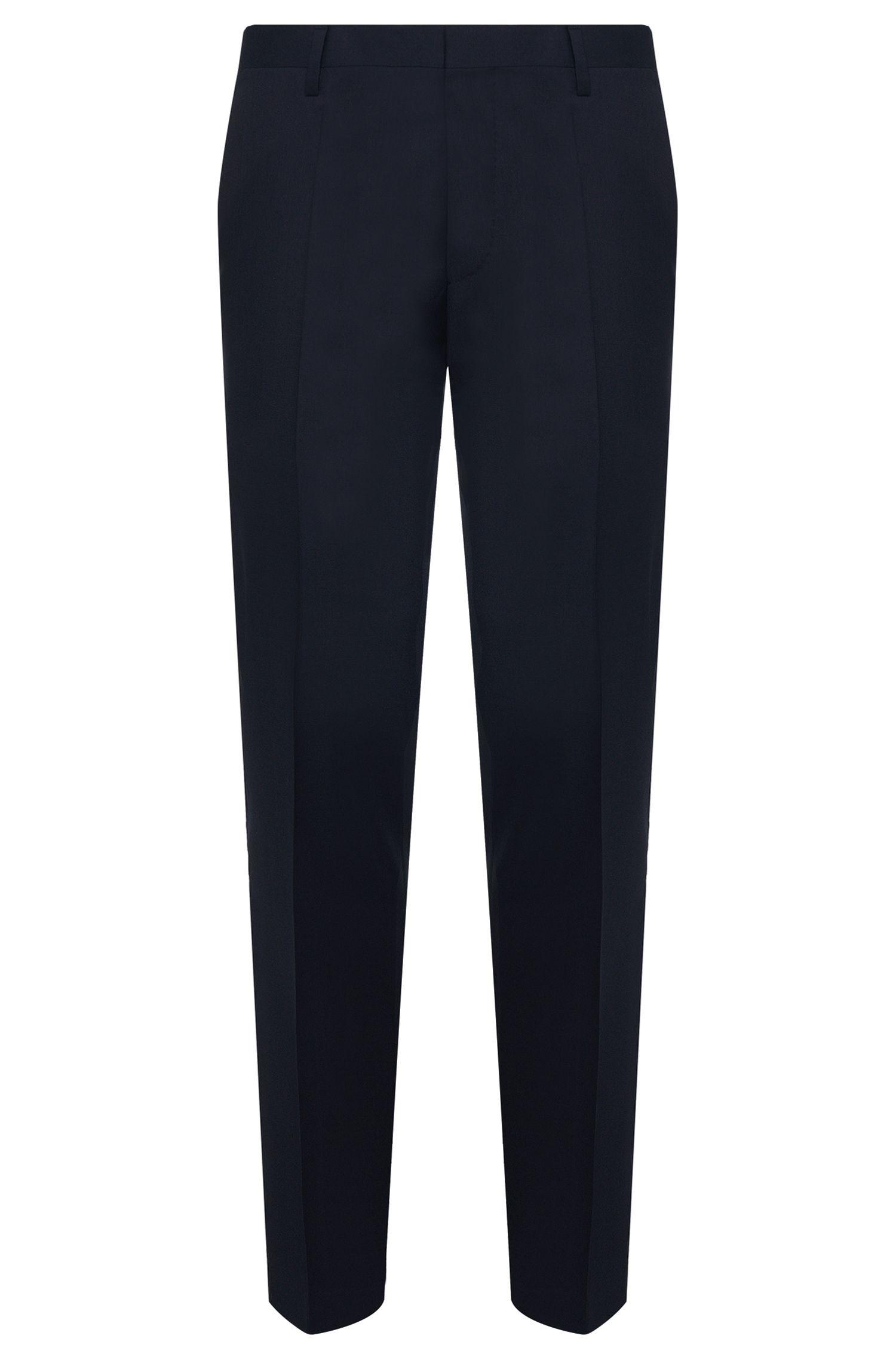 Pantalón slim fit en pura lana virgen