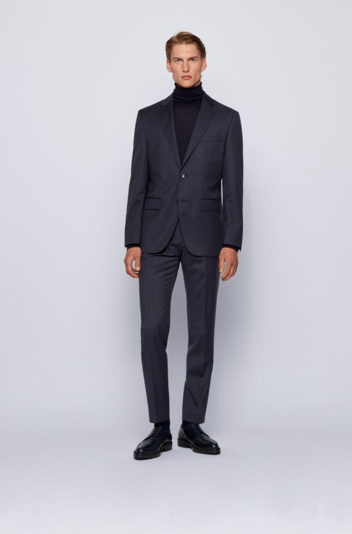 Pantaloni slim fit in serge di lana vergine