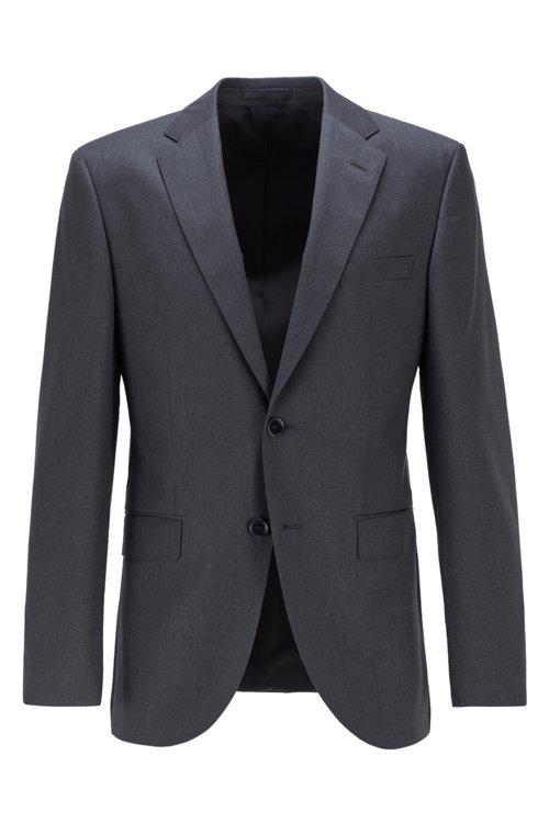 Hugo Boss - Chaqueta regular fit en lana virgen con costuras de imitación a mano - 1