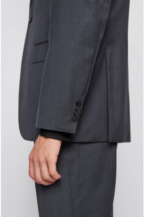 Hugo Boss - Chaqueta regular fit en lana virgen con costuras de imitación a mano - 5