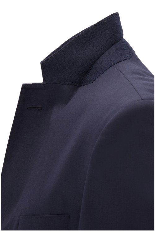 Hugo Boss - Chaqueta regular fit en lana virgen con costuras de imitación a mano - 5