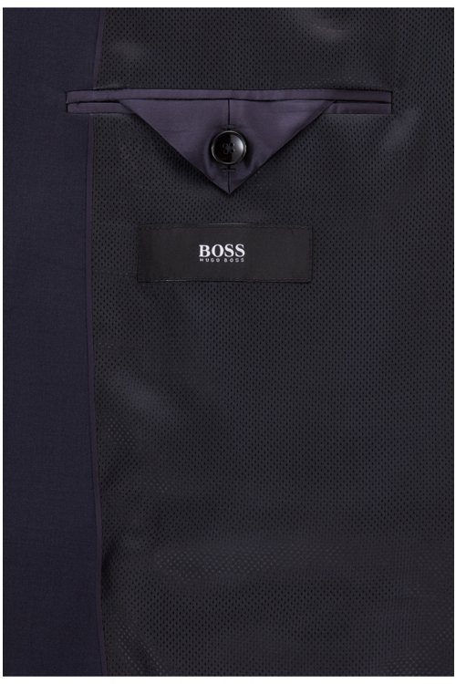 Hugo Boss - Chaqueta regular fit en lana virgen con costuras de imitación a mano - 7