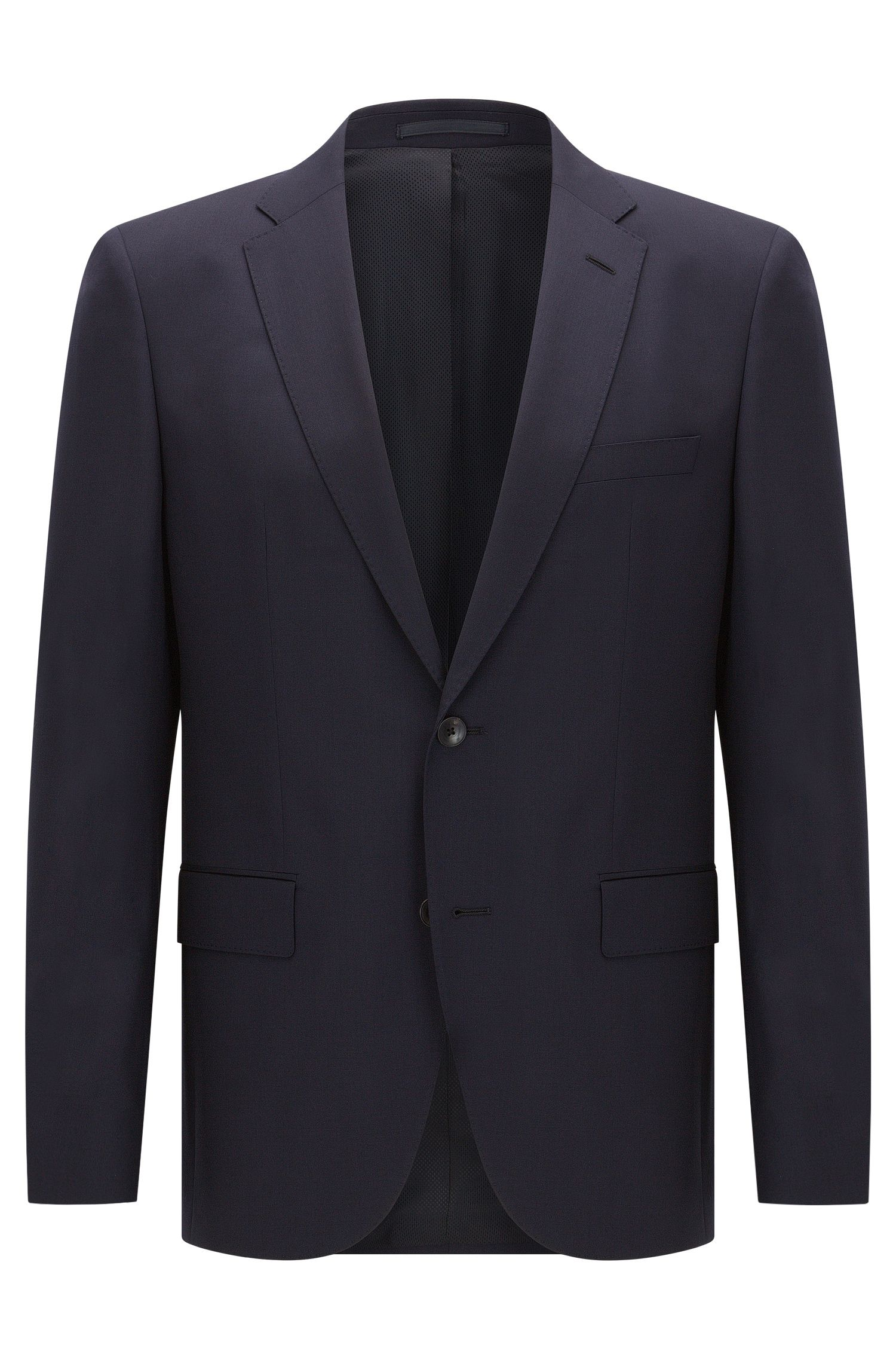 Regular-fit virgin wool jacket with AMF stitching by BOSS Menswear
