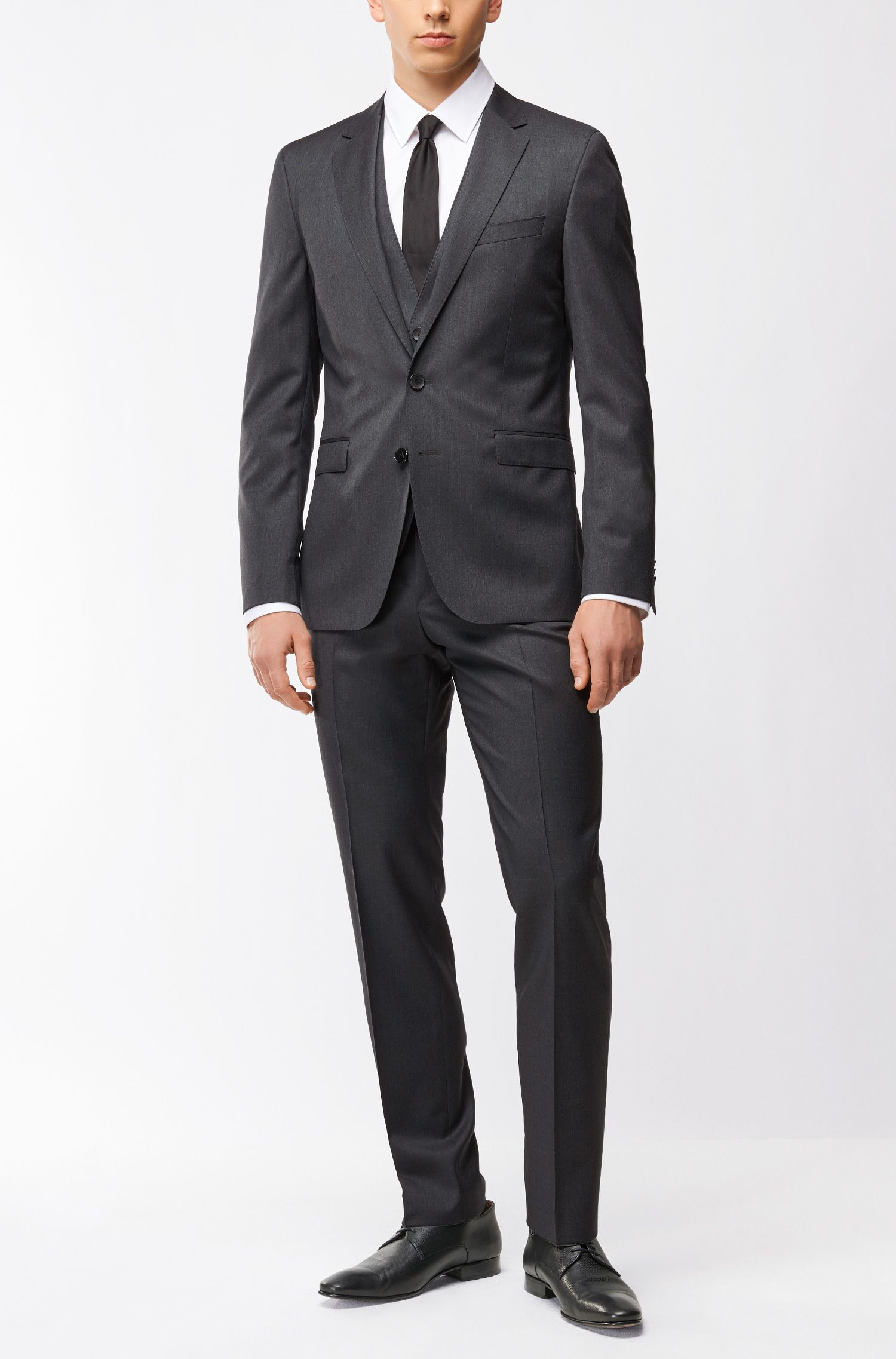 Giacca extra slim fit in pura lana