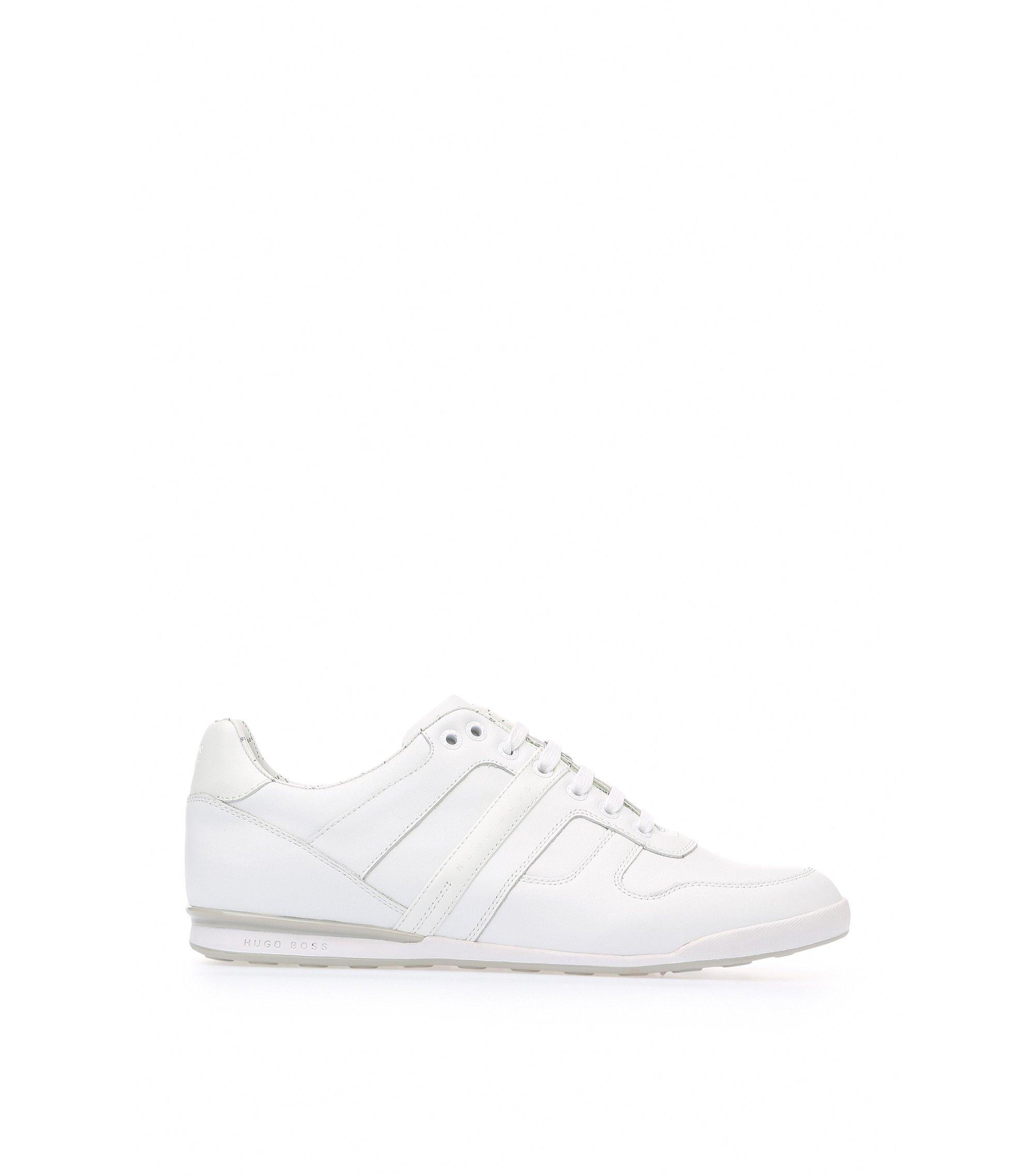 Sneakers aus Glattleder, Weiß