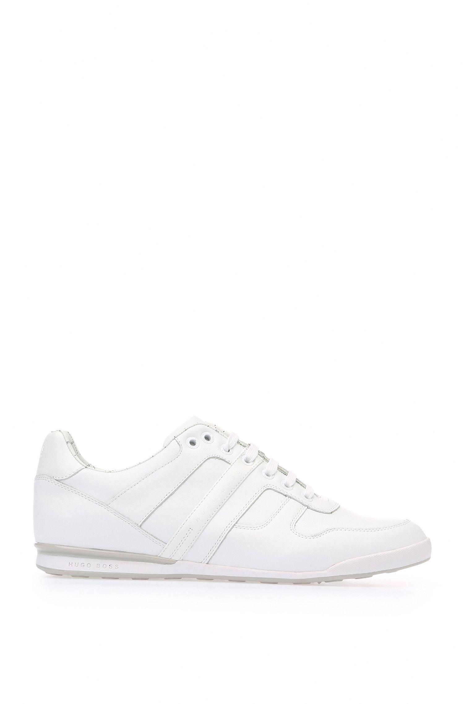 Sneakers basse in pelle liscia