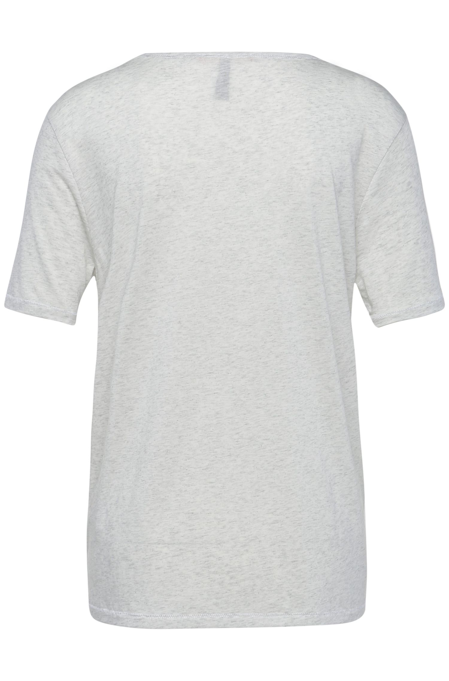 Regular-fit t-shirt in fabric blend with cotton: 'Tafavorite', White