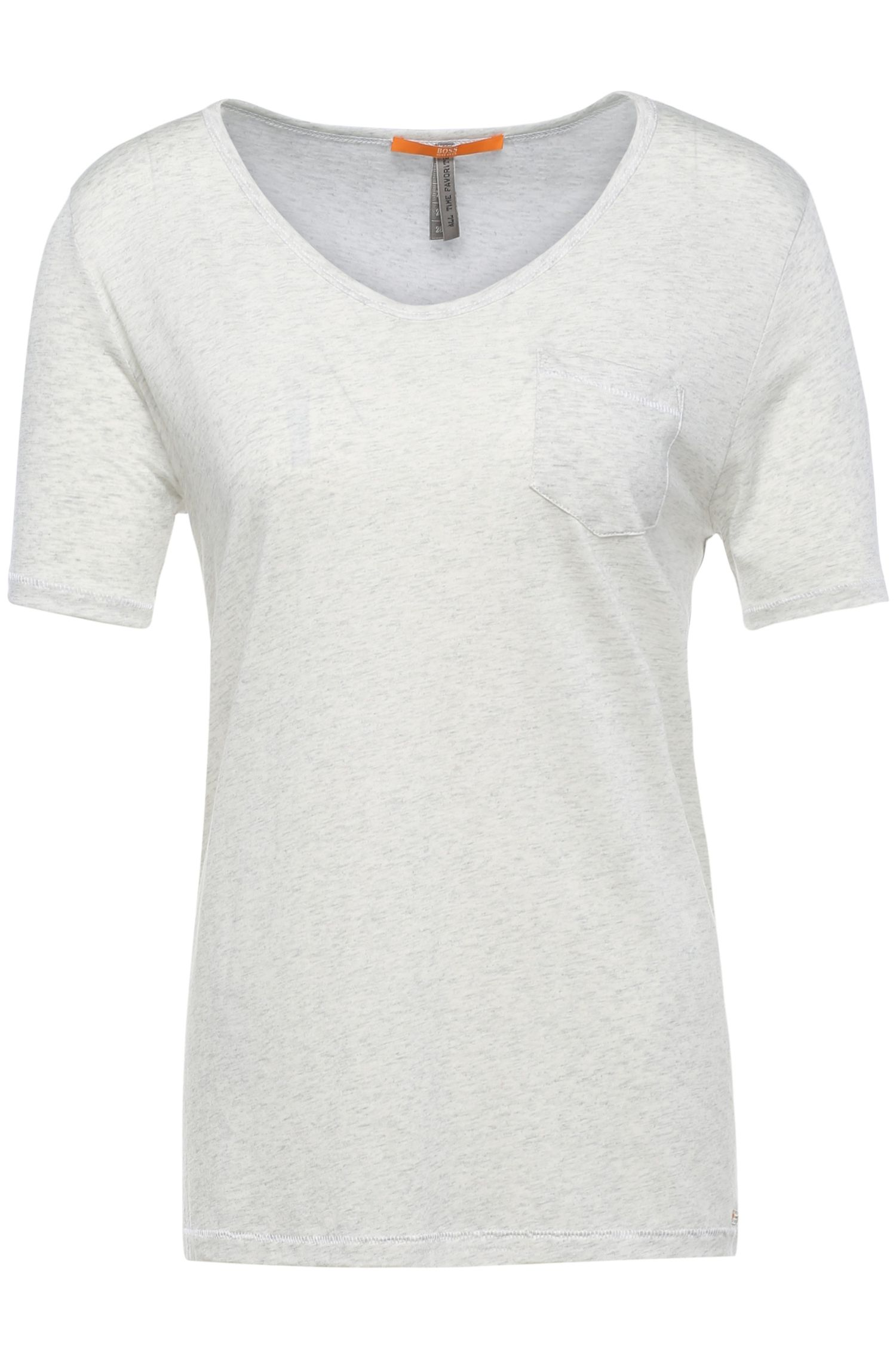 Regular-Fit T-Shirt aus Material-Mix mit Baumwolle: ´Tafavorite`