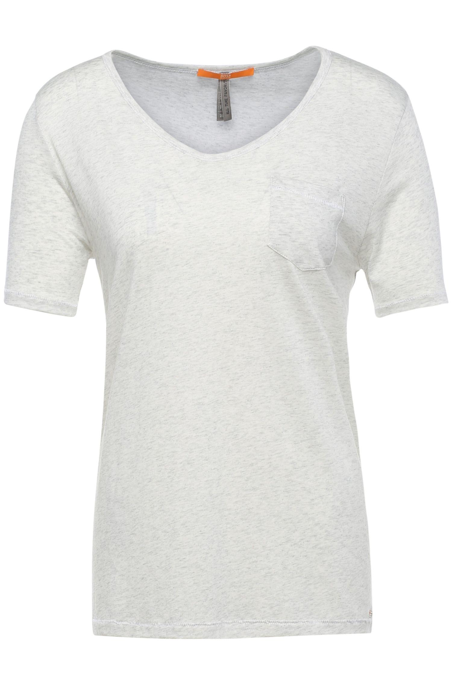 Camiseta regular fit en mezcla de materiales con algodón: 'Tafavorite'