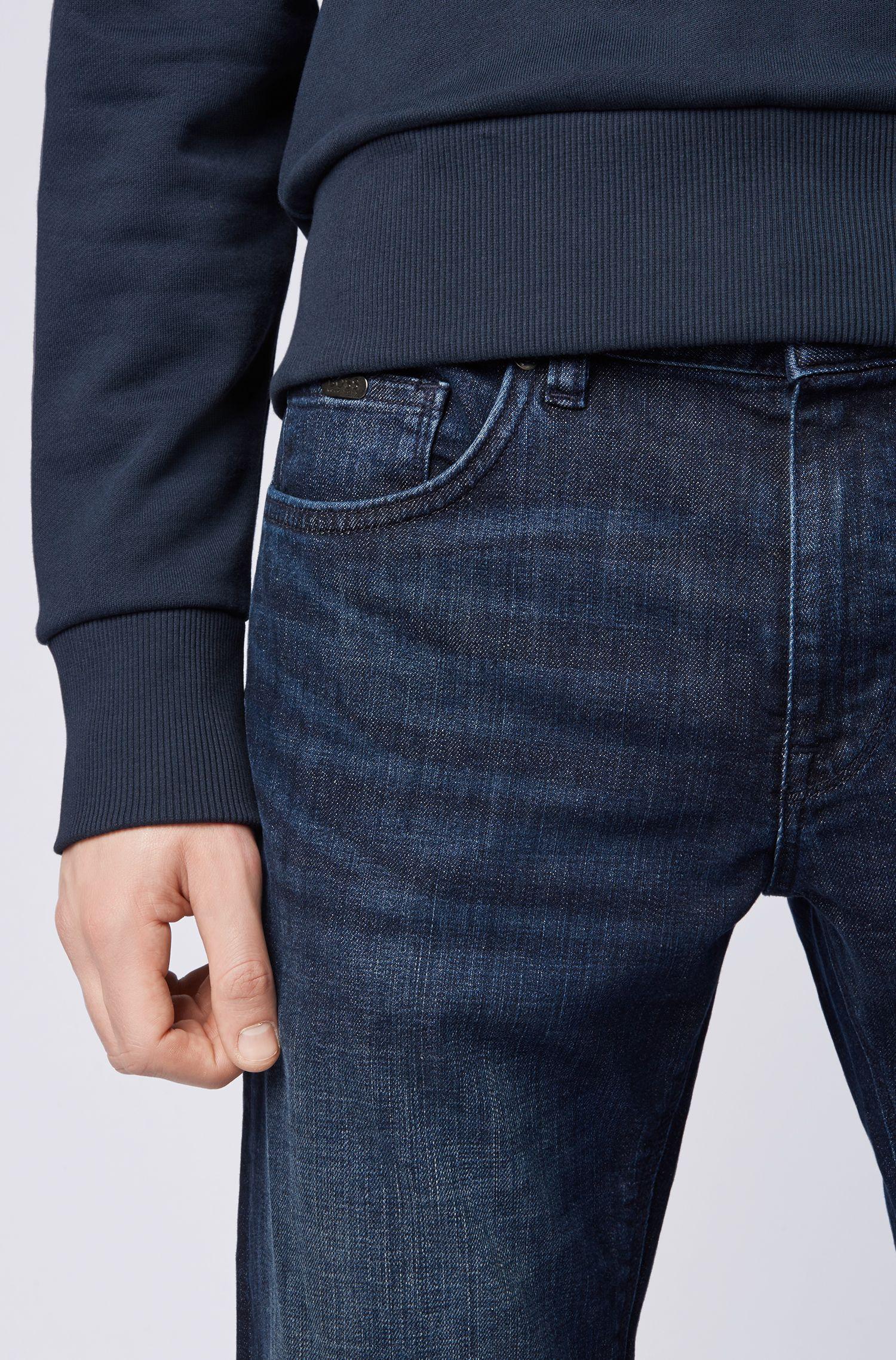 Regular-Fit Jeans aus Stretch-Denim, Dunkelblau