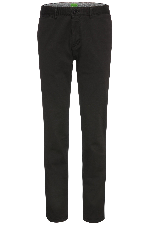 Regular-Fit Hose aus elastischer Baumwolle: ´C-Crigan2-4-D`, Schwarz