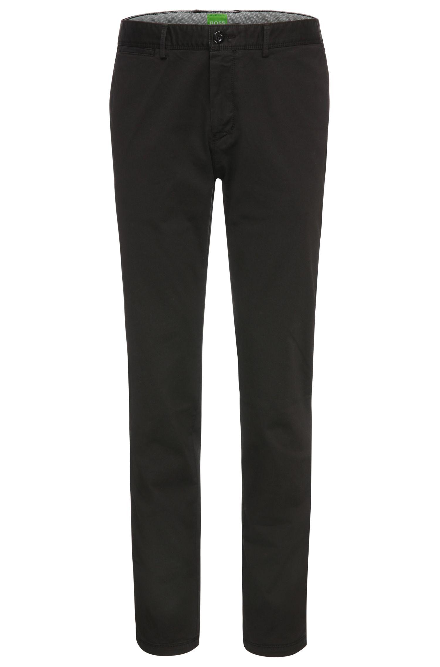 Pantaloni regular fit in cotone elasticizzato: 'C-Crigan2-4-D'