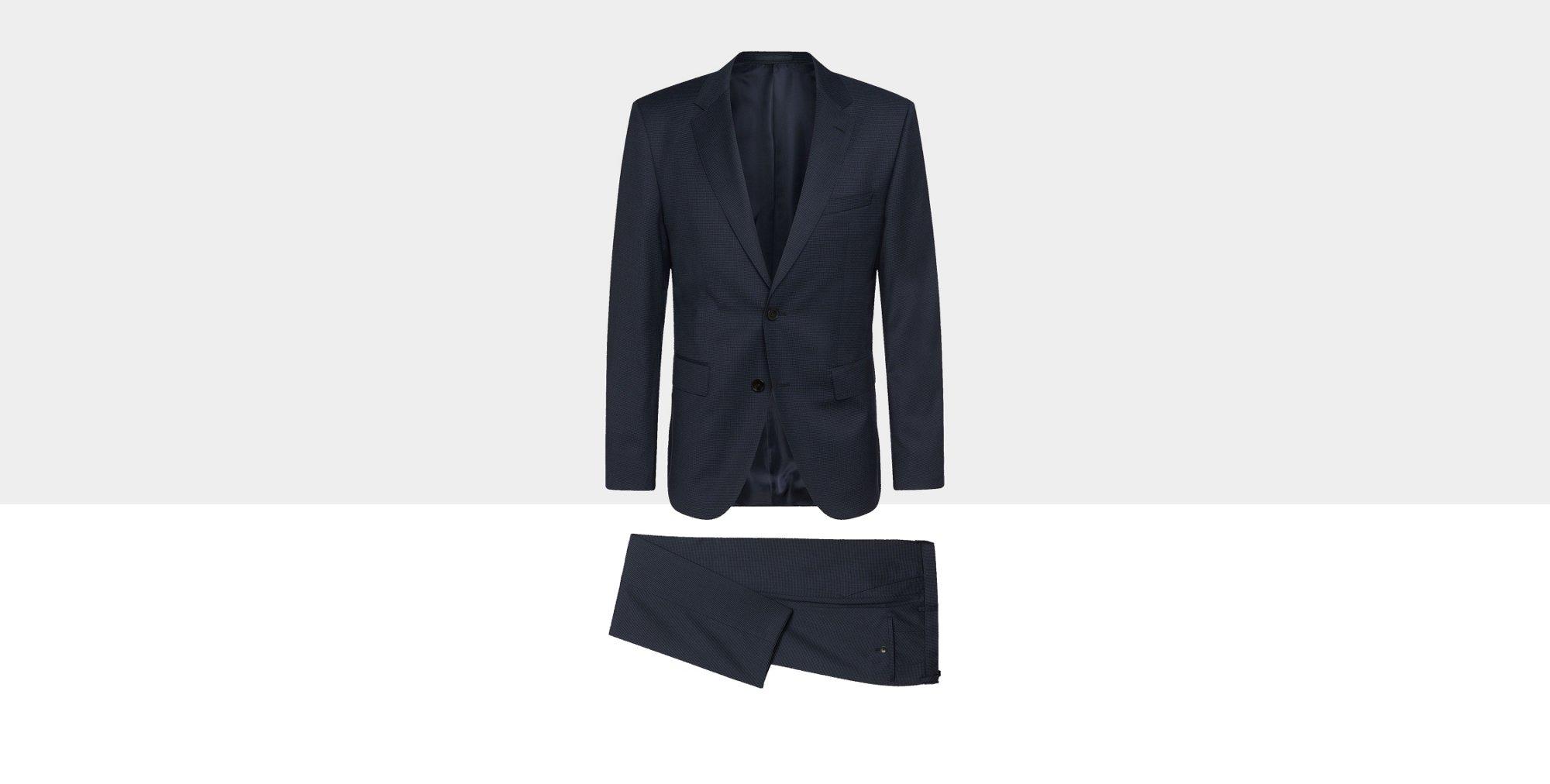 Blauer Anzug von BOSS