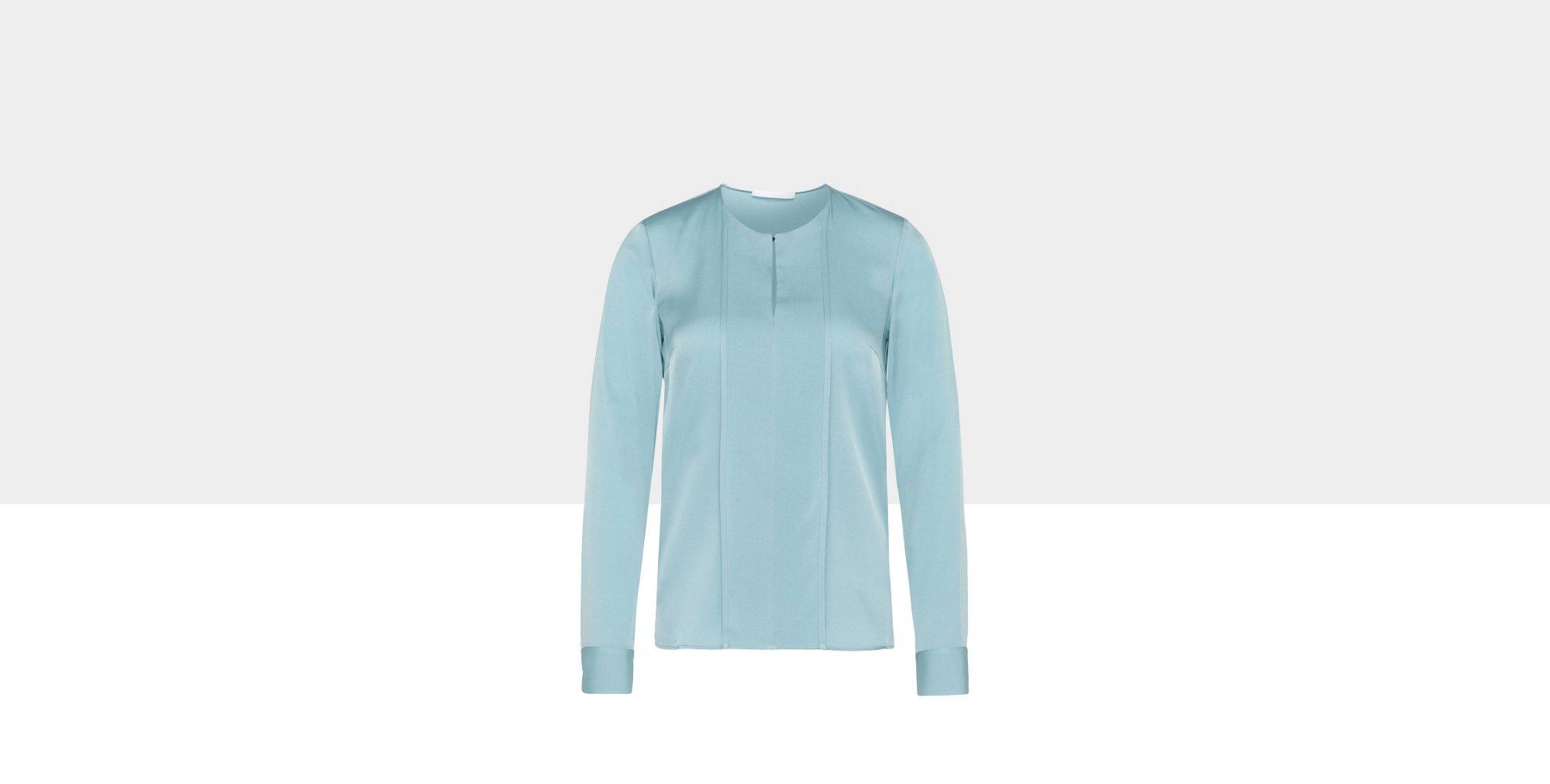 Bluse aus Stretch-Seide mit dekorativer Blende: 'Binika'