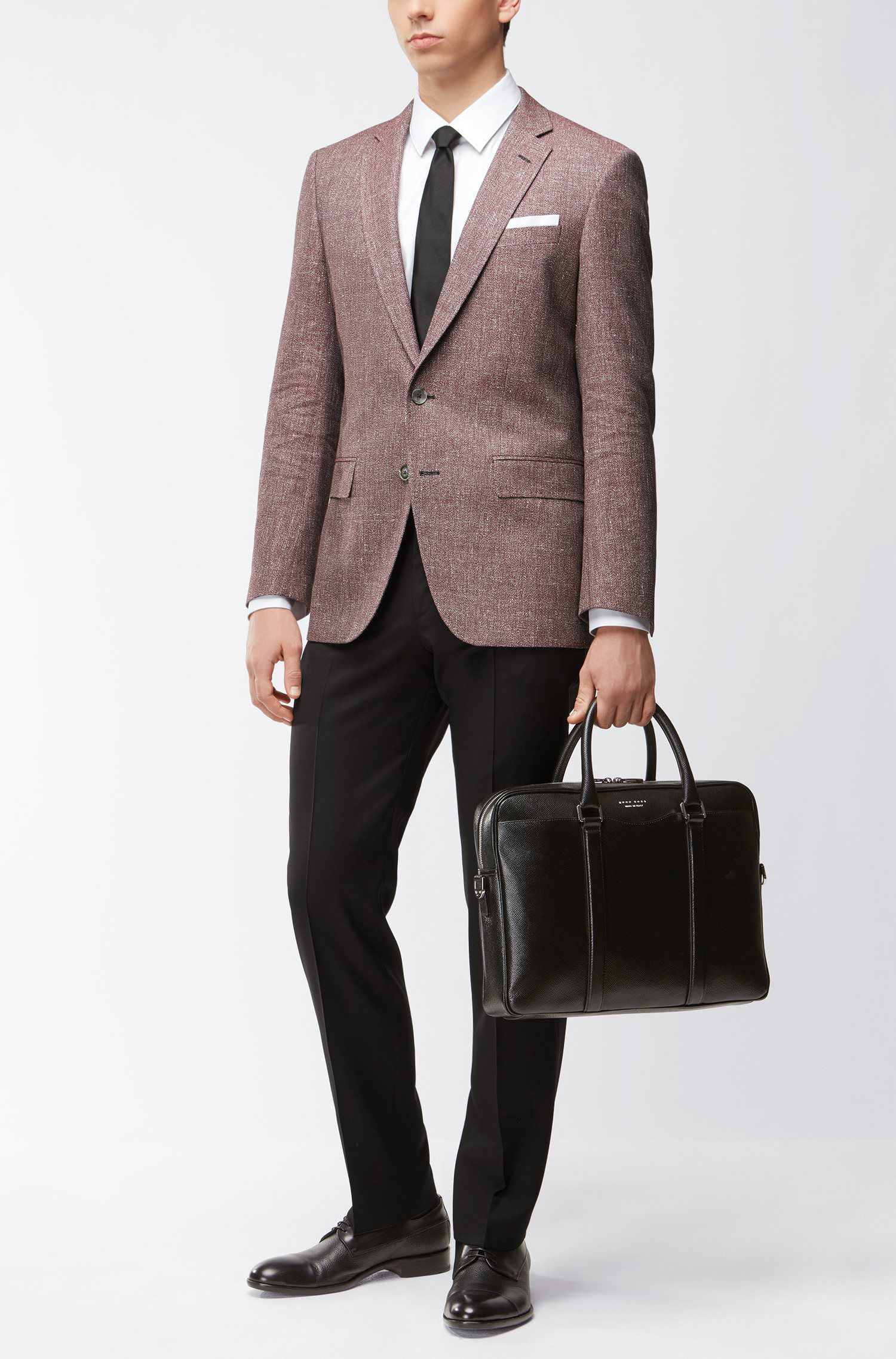 Straight-leg business trousers in virgin wool