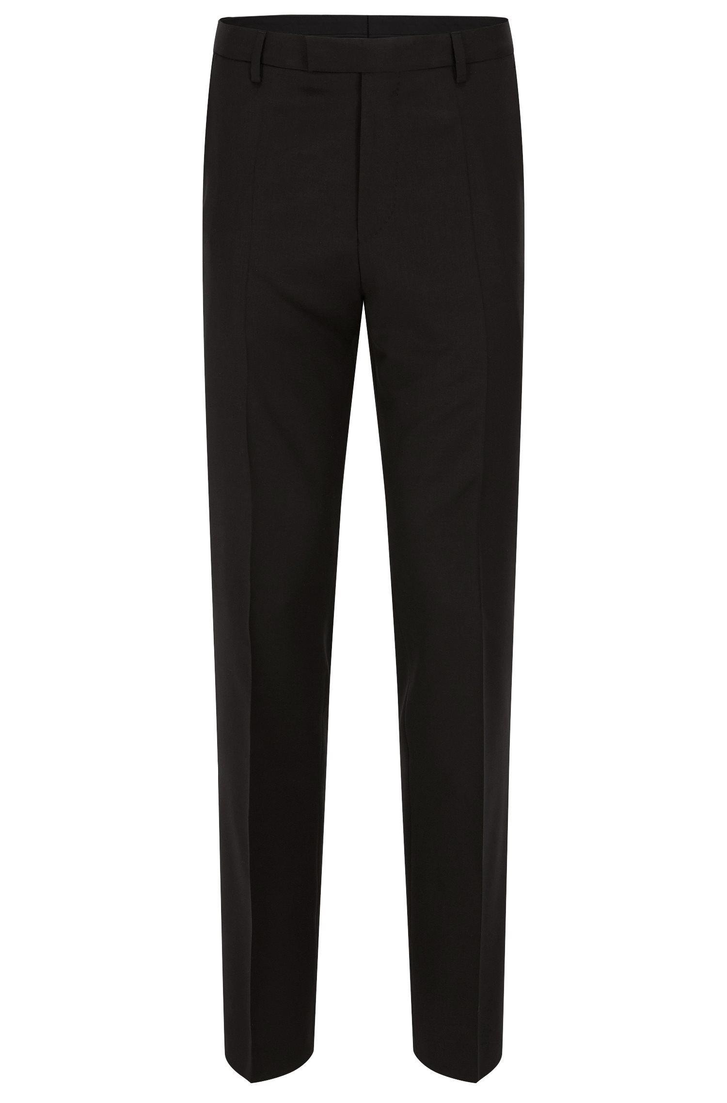 Business-Hose aus Schurwolle mit geradem Beinverlauf