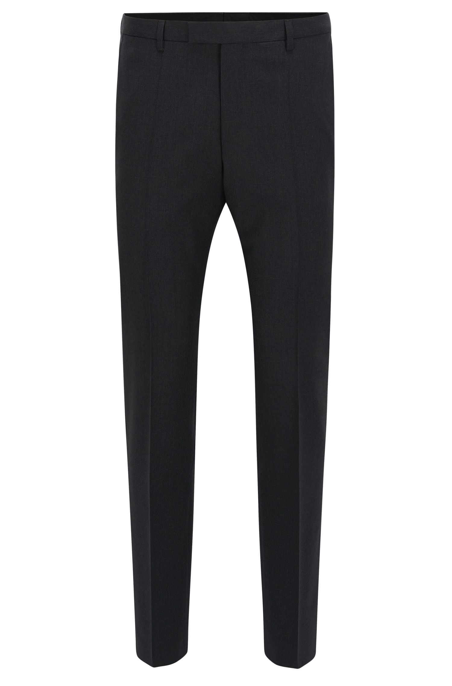 Straight-leg business trousers in virgin wool