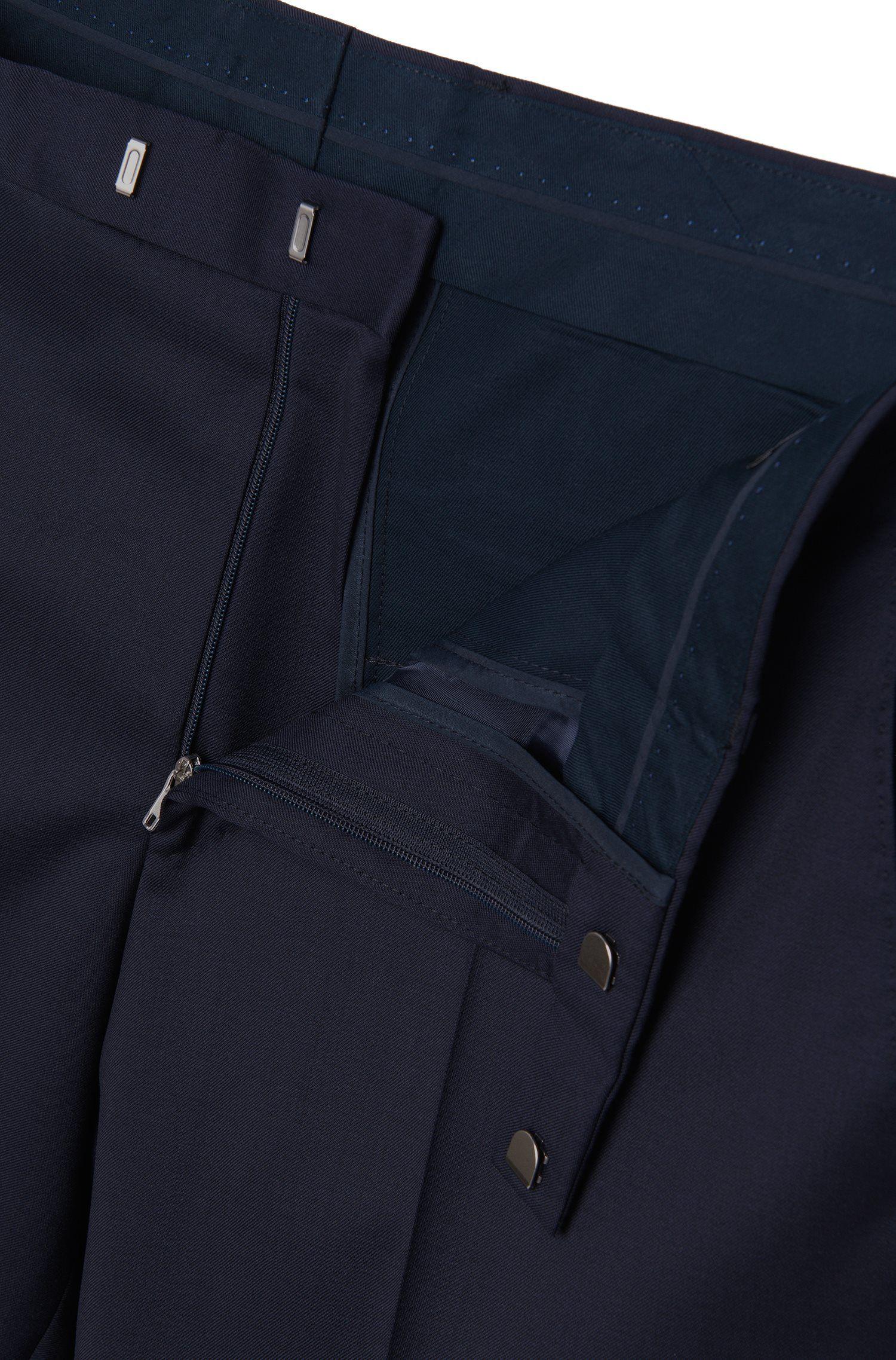 Pantalon business à jambes droites, en laine vierge