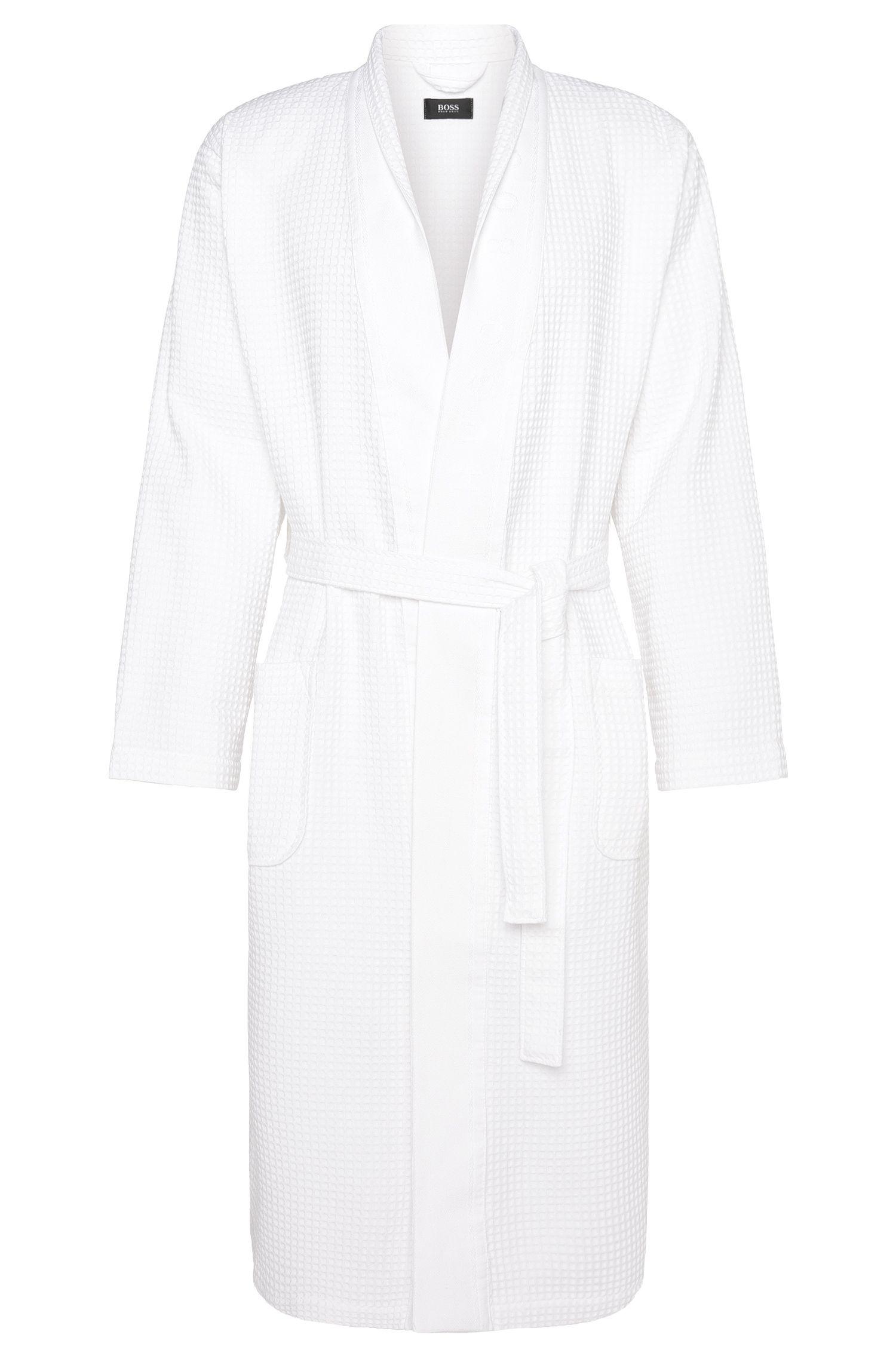 Wellness bathrobe in cotton blend with bamboo viscose: 'Kimono'