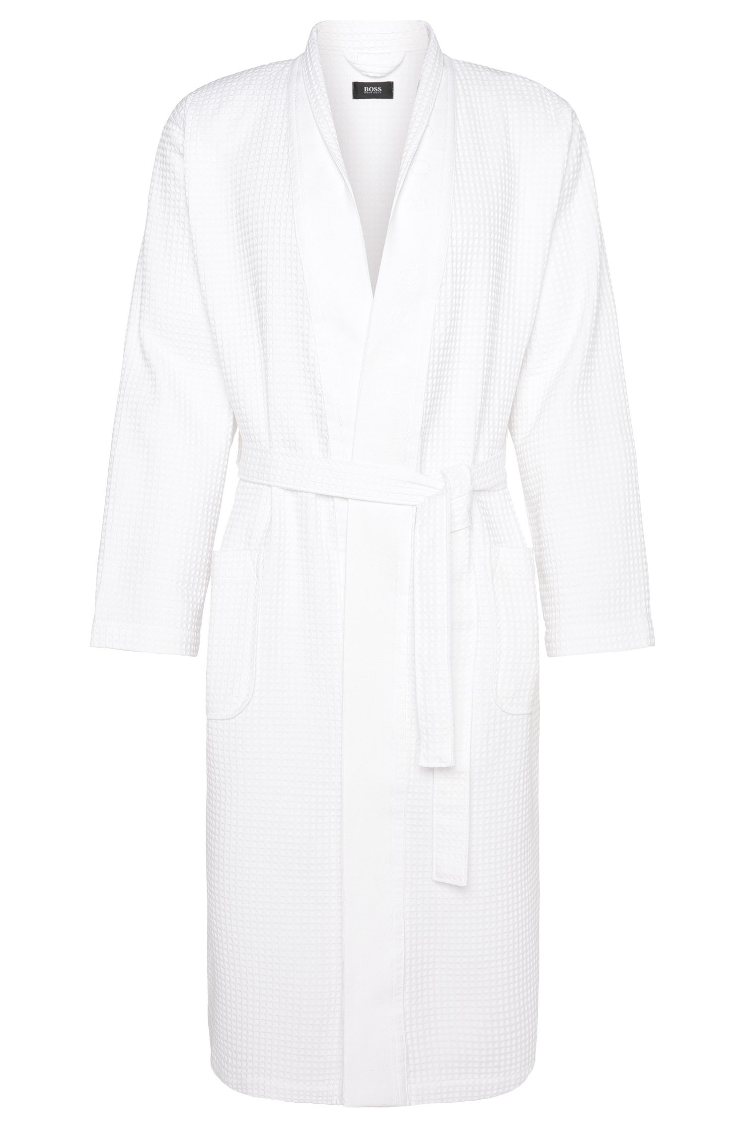 Wellness bathrobe in cotton blend with bamboo viscose: 'Kimono'