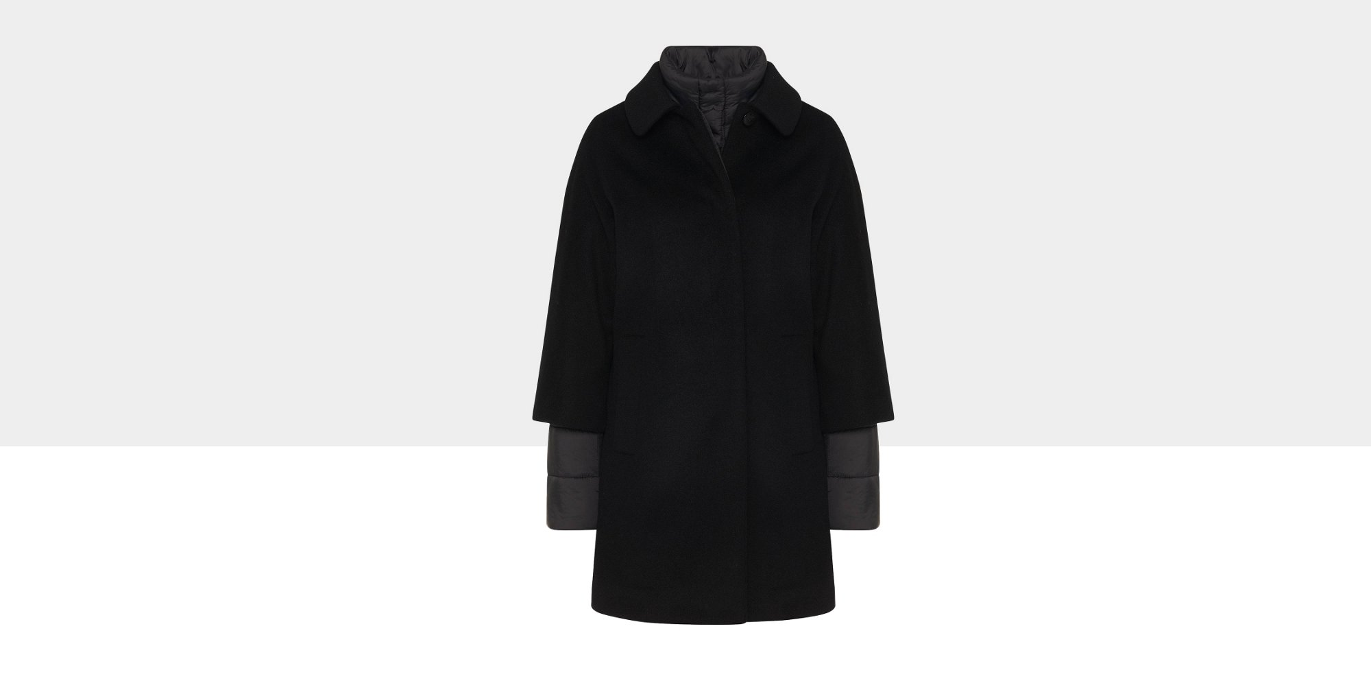 2-in-1 coat in wool blend with integrated quilted coat: 'Pacena'