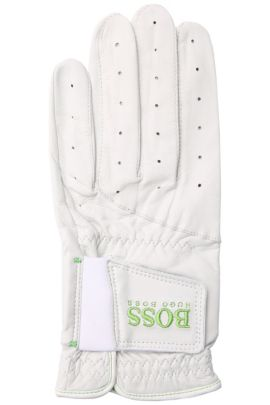Leather golf glove: 'Garmin 4', White