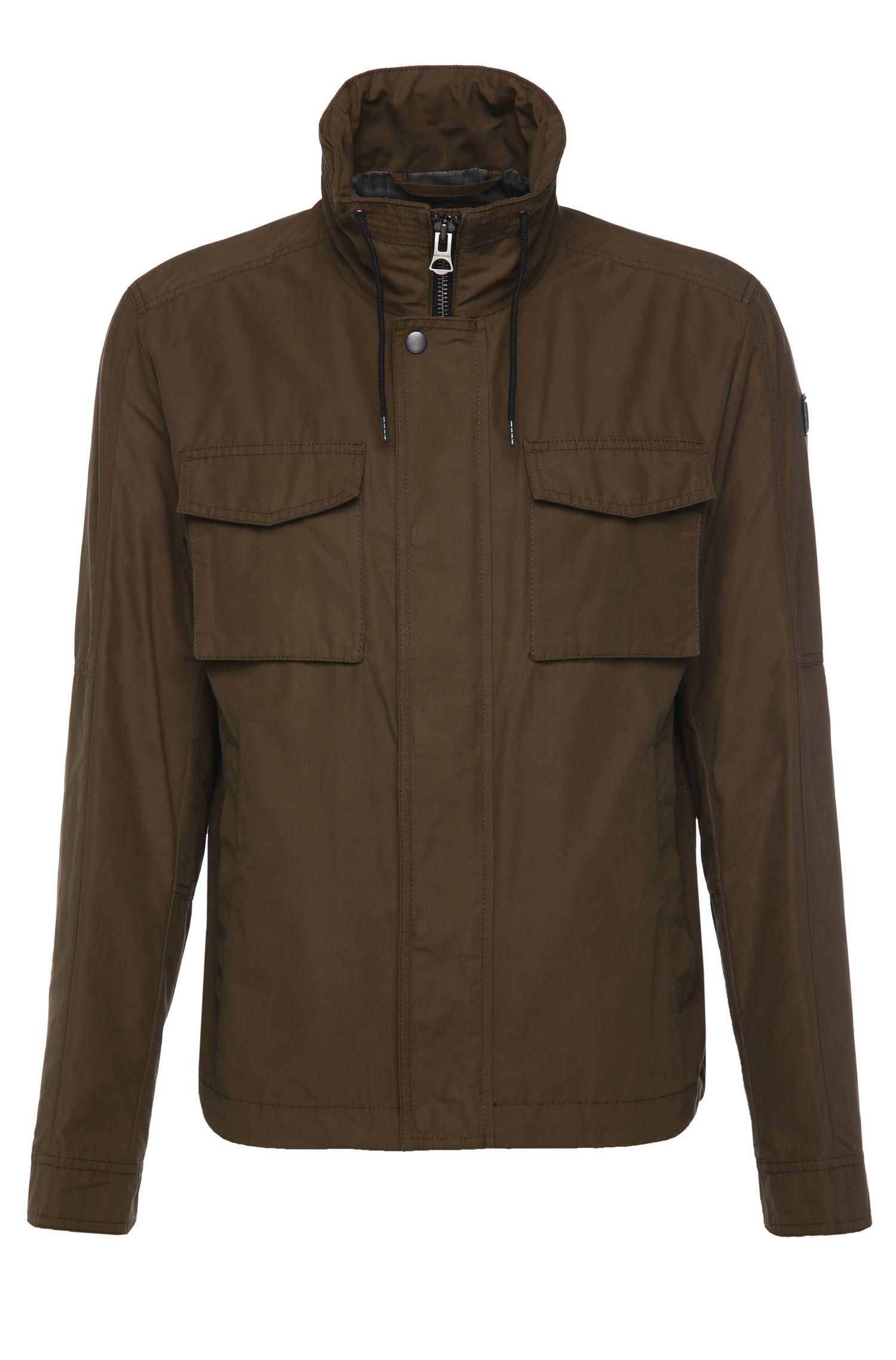 Regular-fit jas van een katoenmix: 'Ogunner'